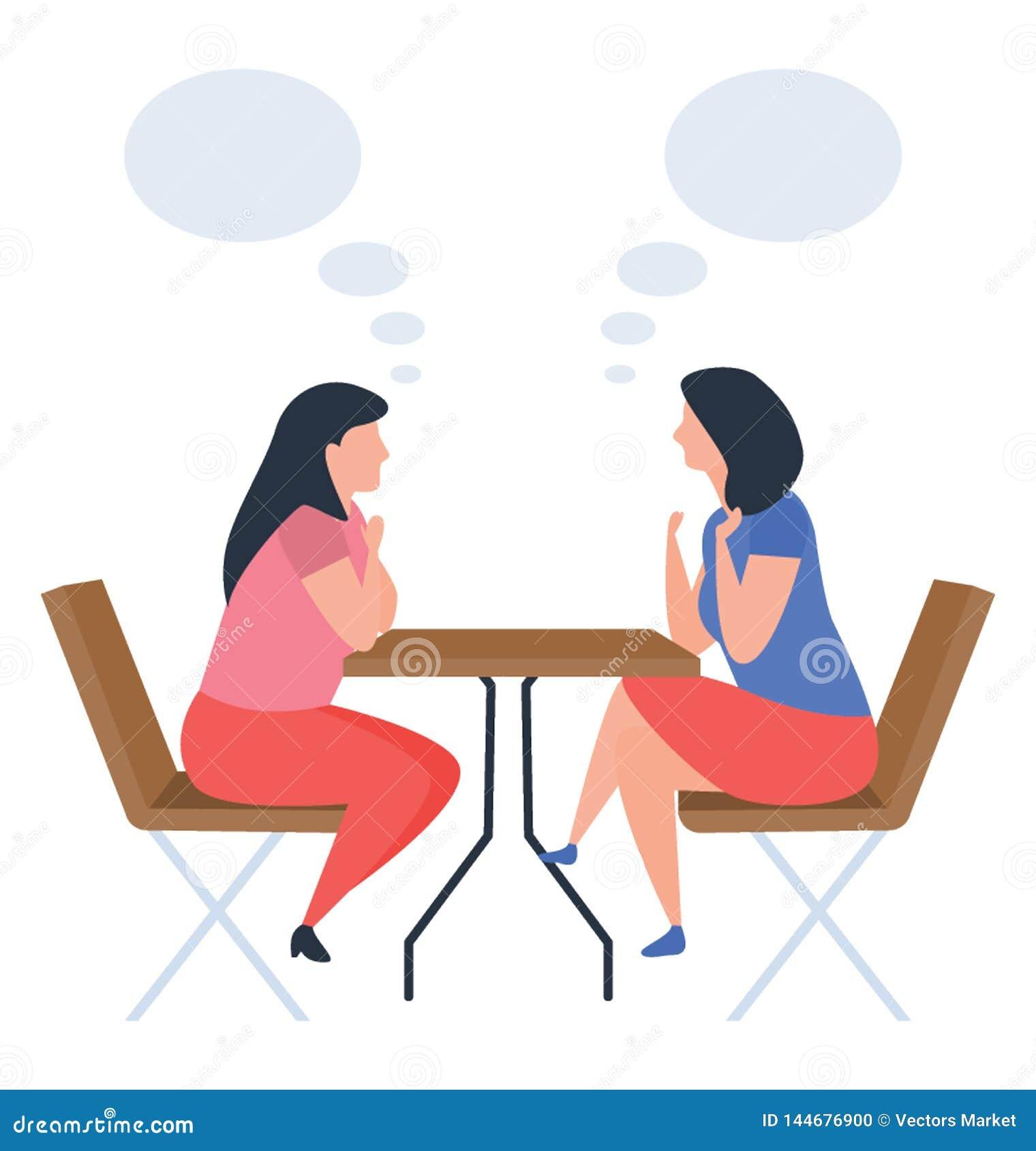 Discussione delle ragazze