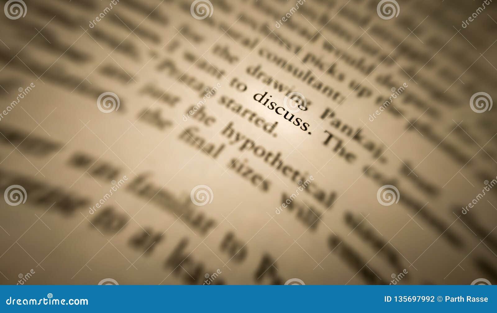 Discutez le mot a accentué et s est focalisé dans un vieux livre