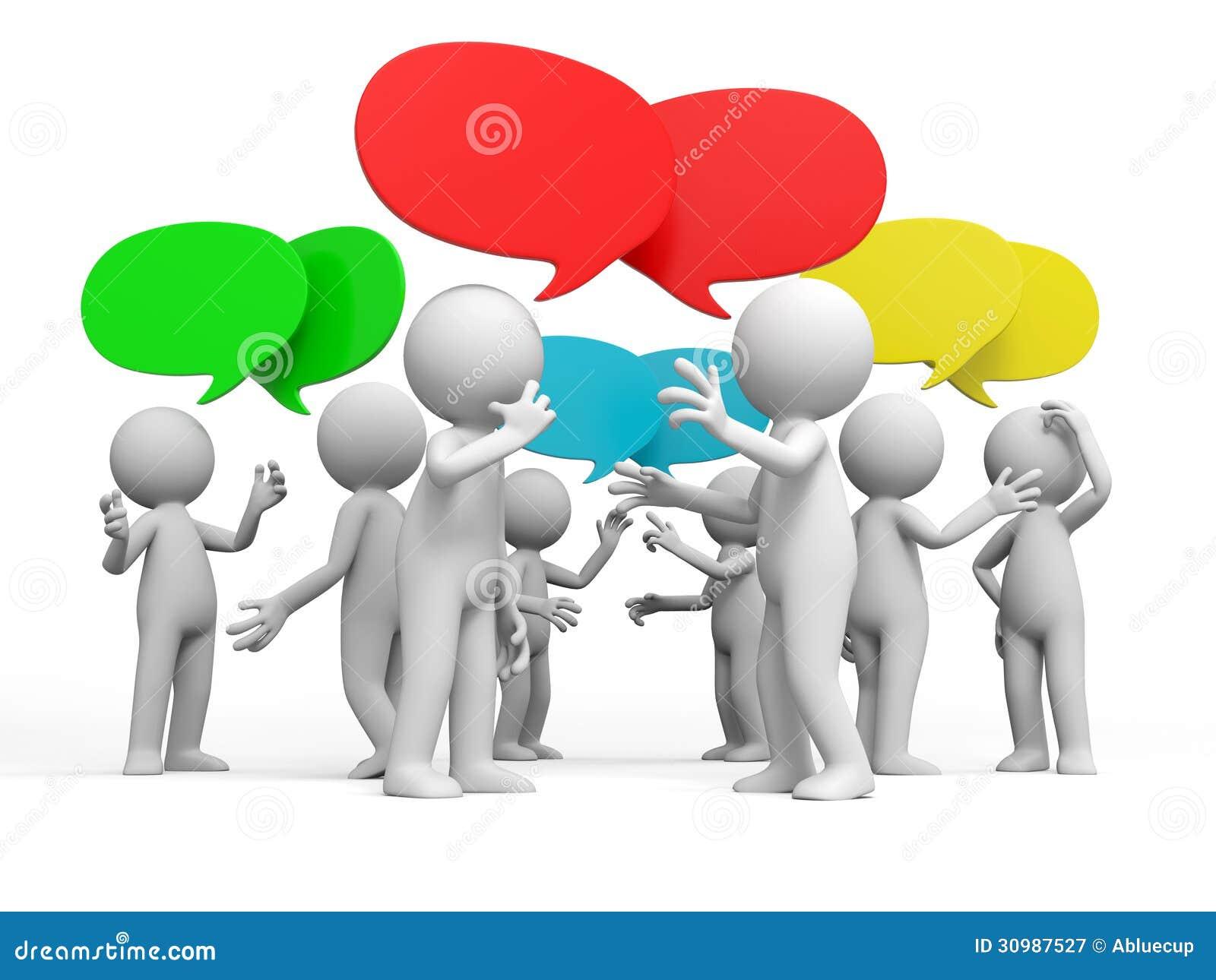 Discutir stock de ilustración. Ilustración de discutir - 30987527