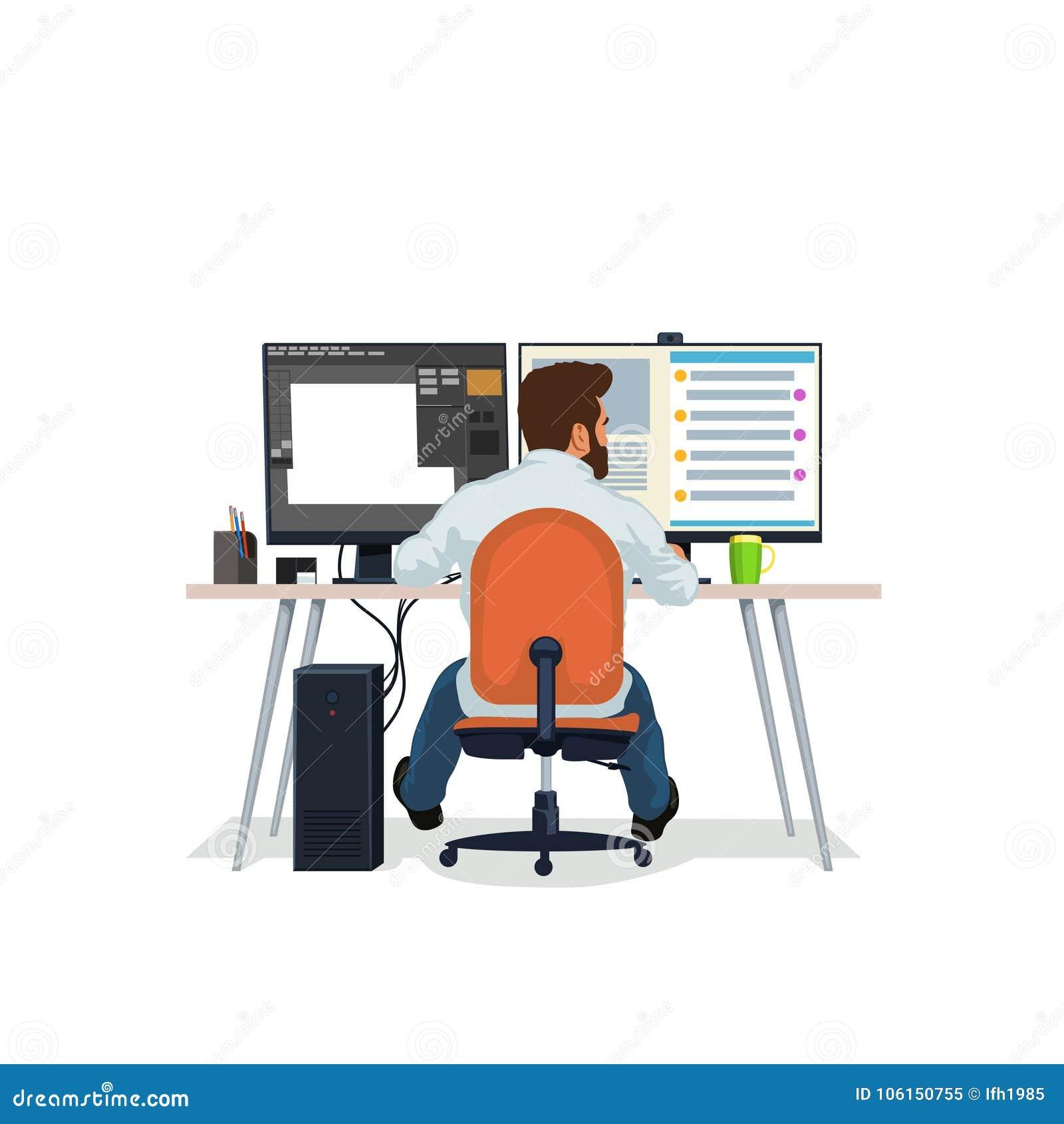 Diseñador en el trabajo
