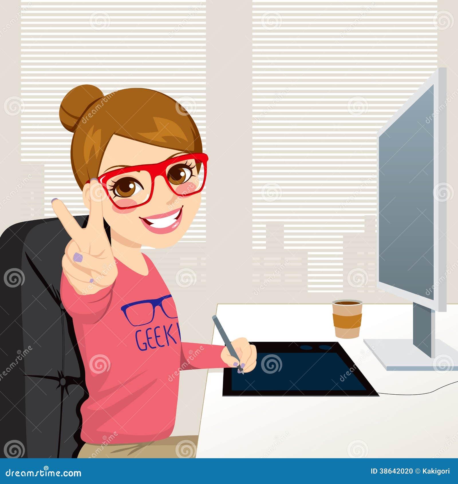 Dise ador gr fico woman working del inconformista foto de - Disenador de fotos ...