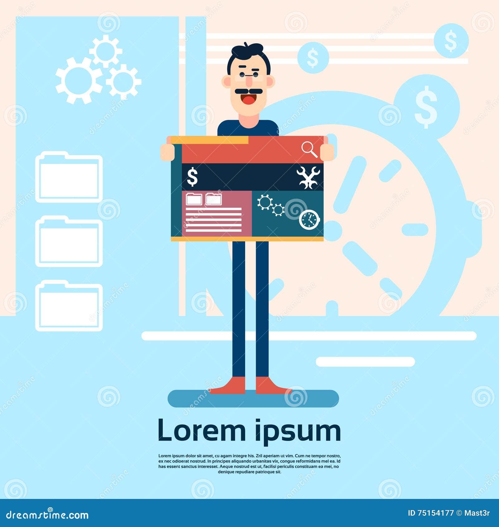 Diseñador web Graphic Design Background del hombre