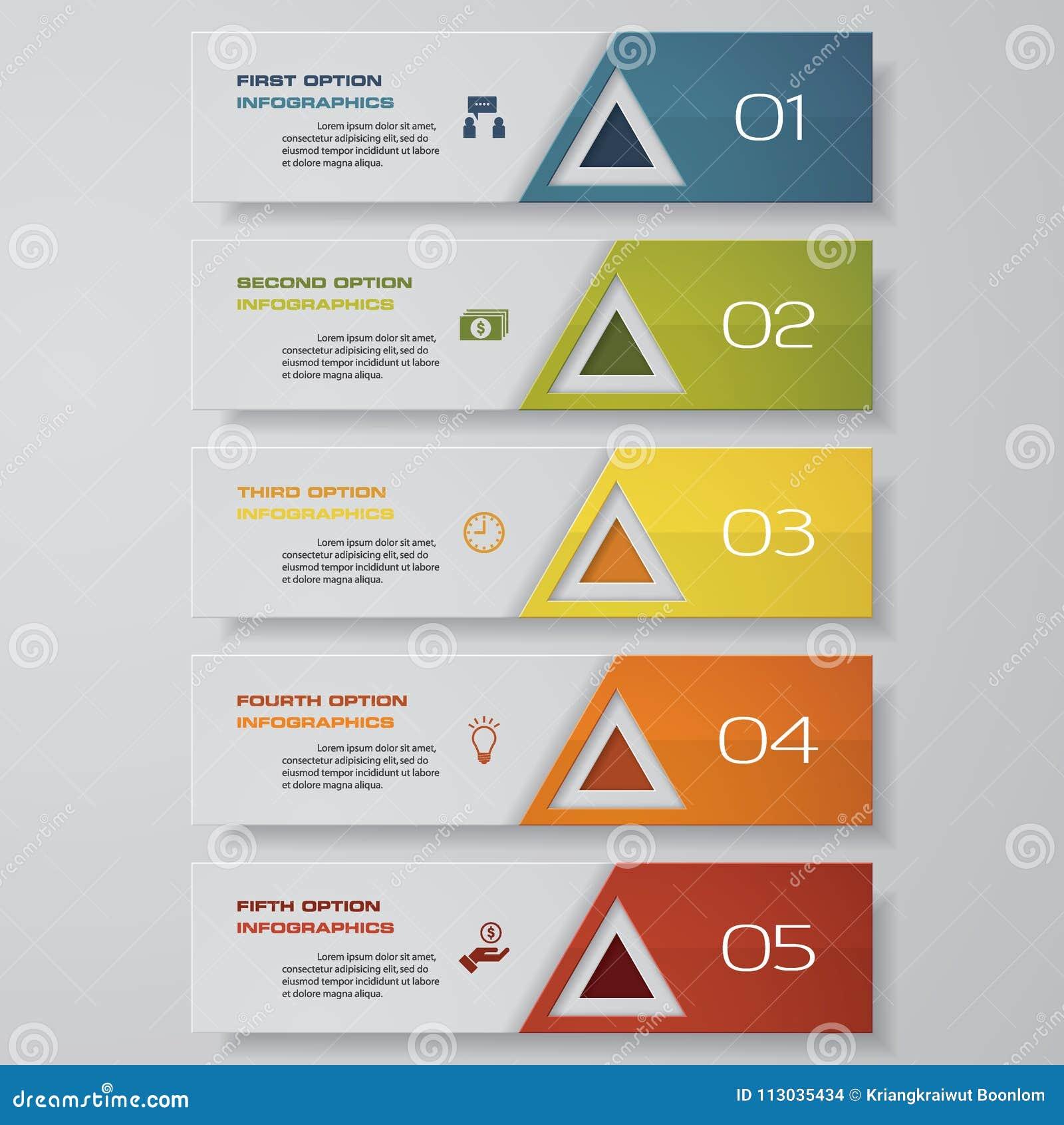 Diseñe la plantilla de las banderas del número/la disposición limpia del gráfico o del Web site Vector