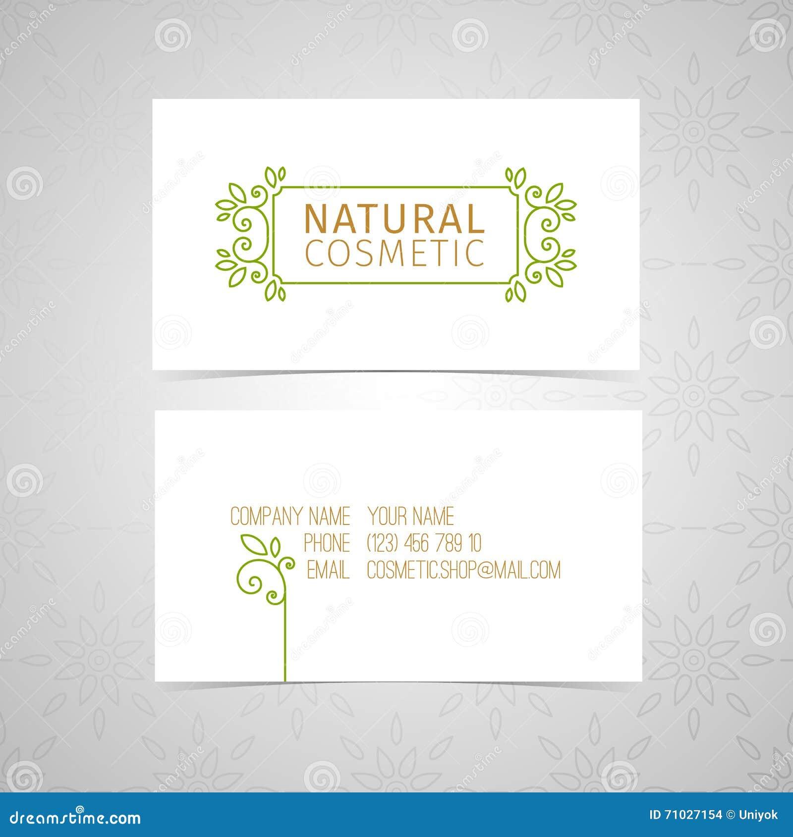 Diseñe La Plantilla Para La Tarjeta De Visita Natural Orgánica De ...