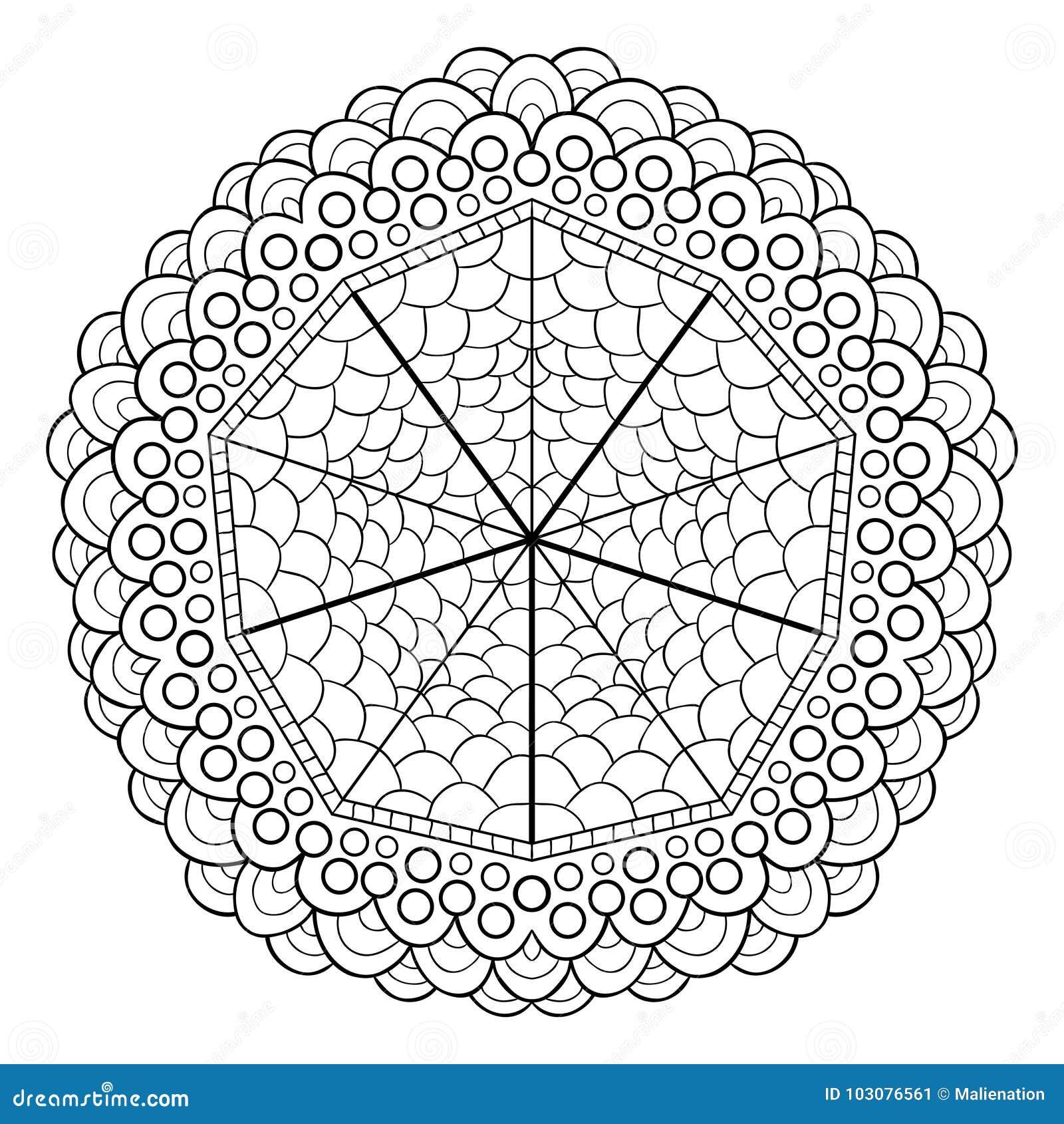 Diseño único De La Mandala Modelo Ornamental Redondo Para Las ...
