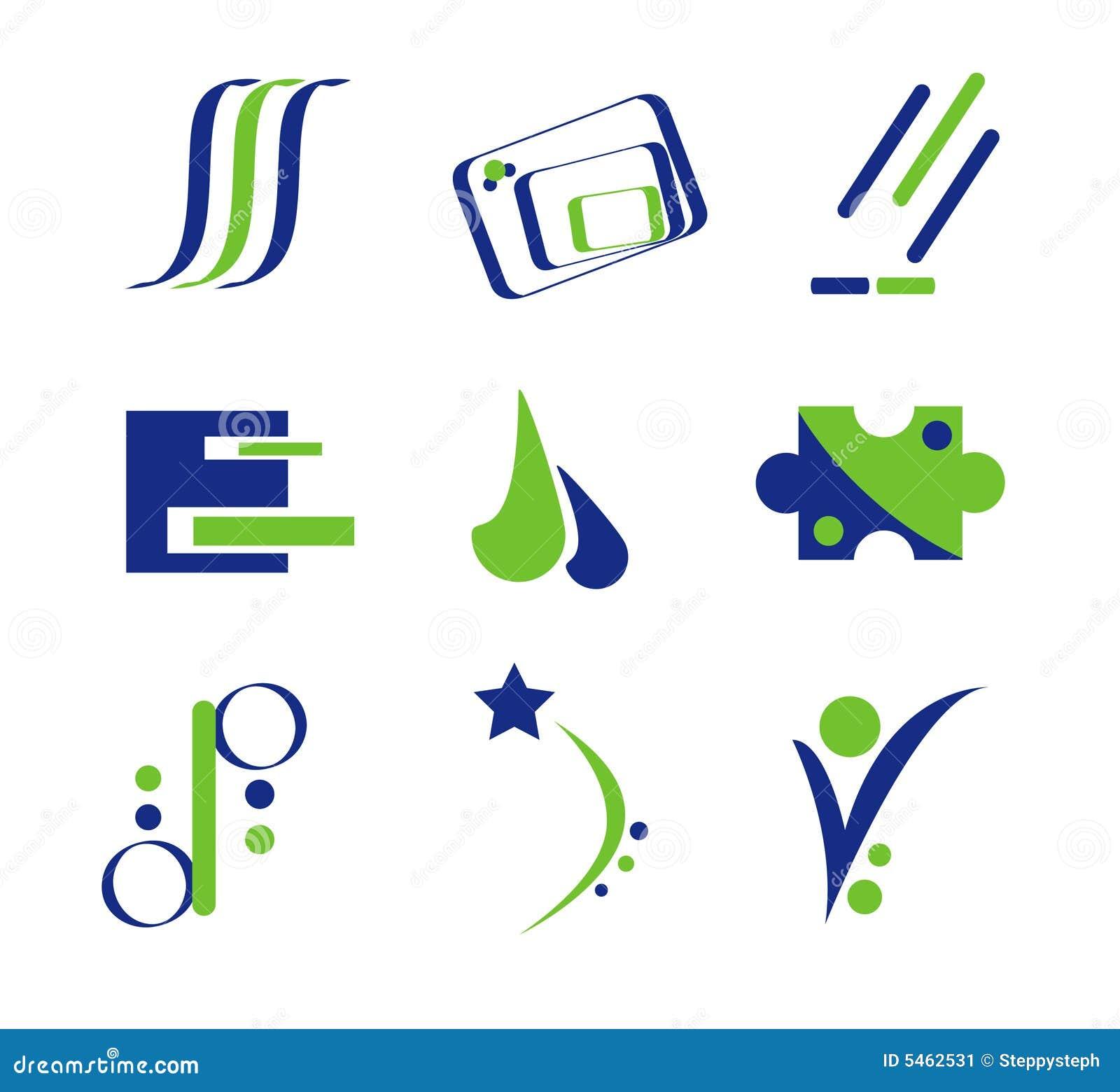 Diseño abstracto azul y verde