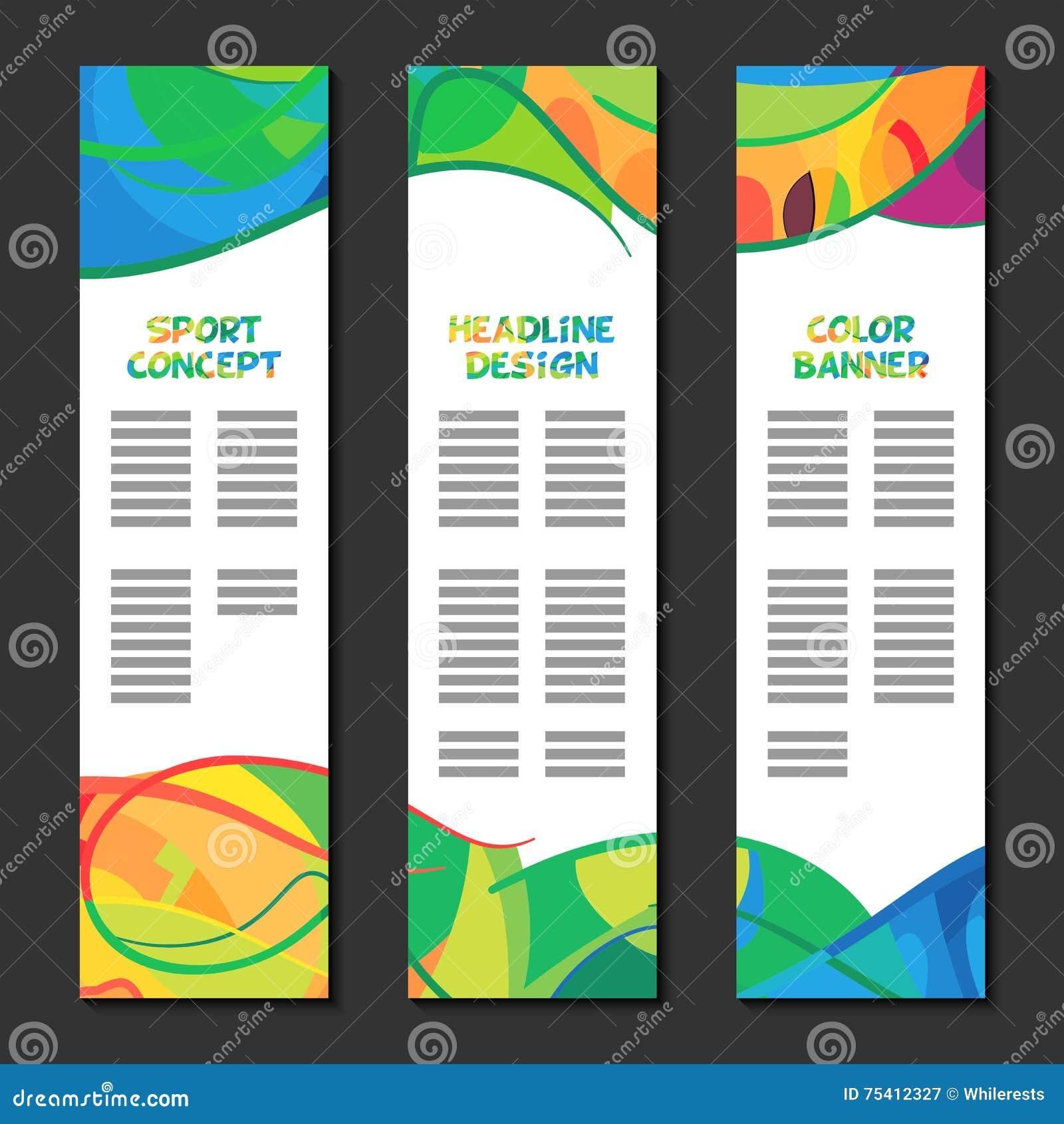 Diseño Abstracto Colorido De La Plantilla, Cartel Del Folleto ...
