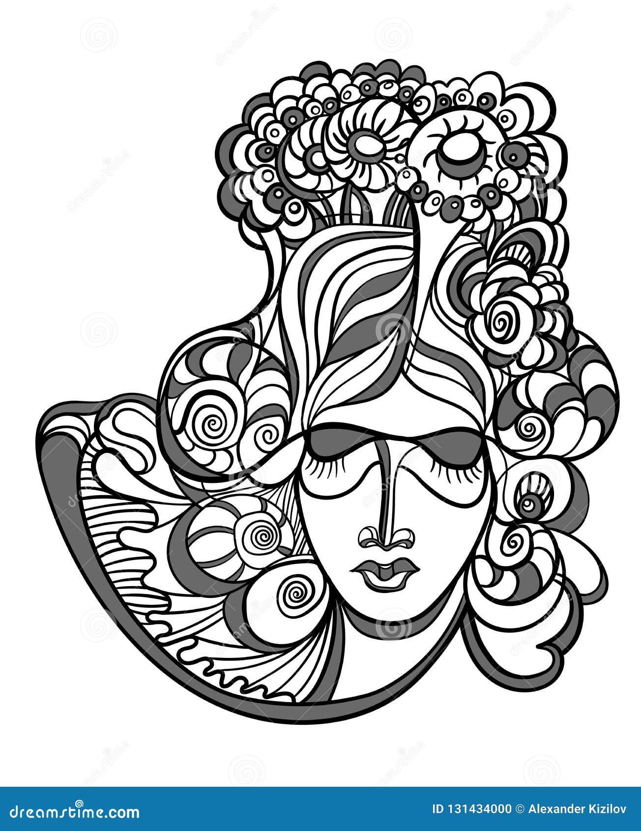 Diseño abstracto con la cara de la mujer