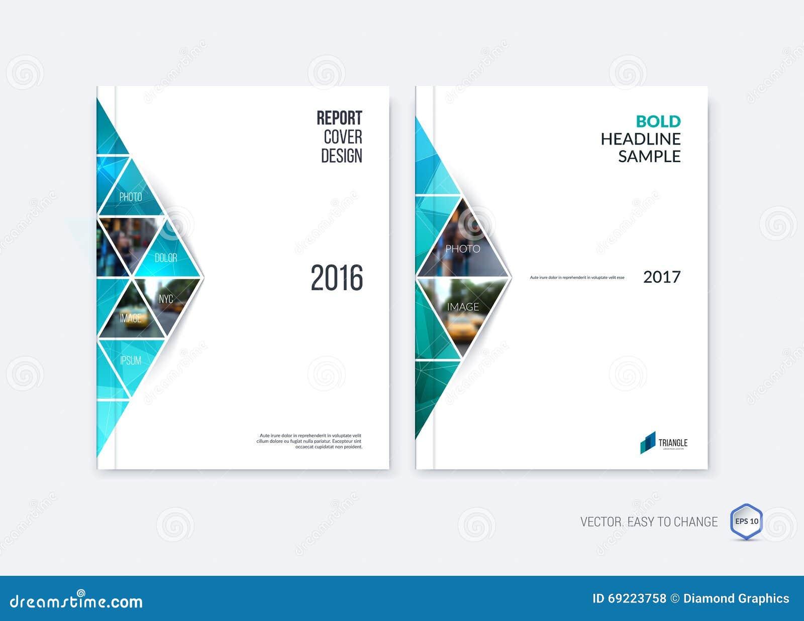 Diseño abstracto de la cubierta, disposición de la plantilla del folleto del negocio, informe