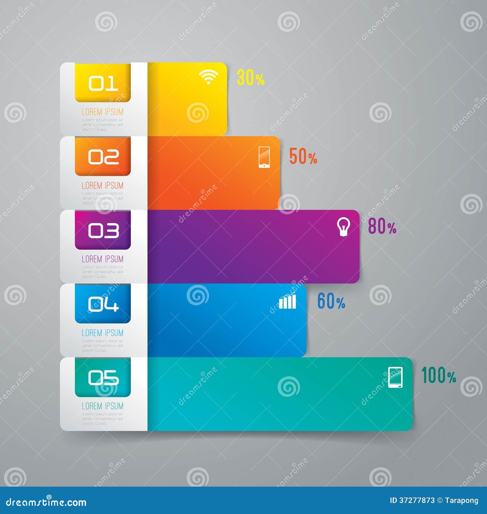 Diseño abstracto de la plantilla del infographics.