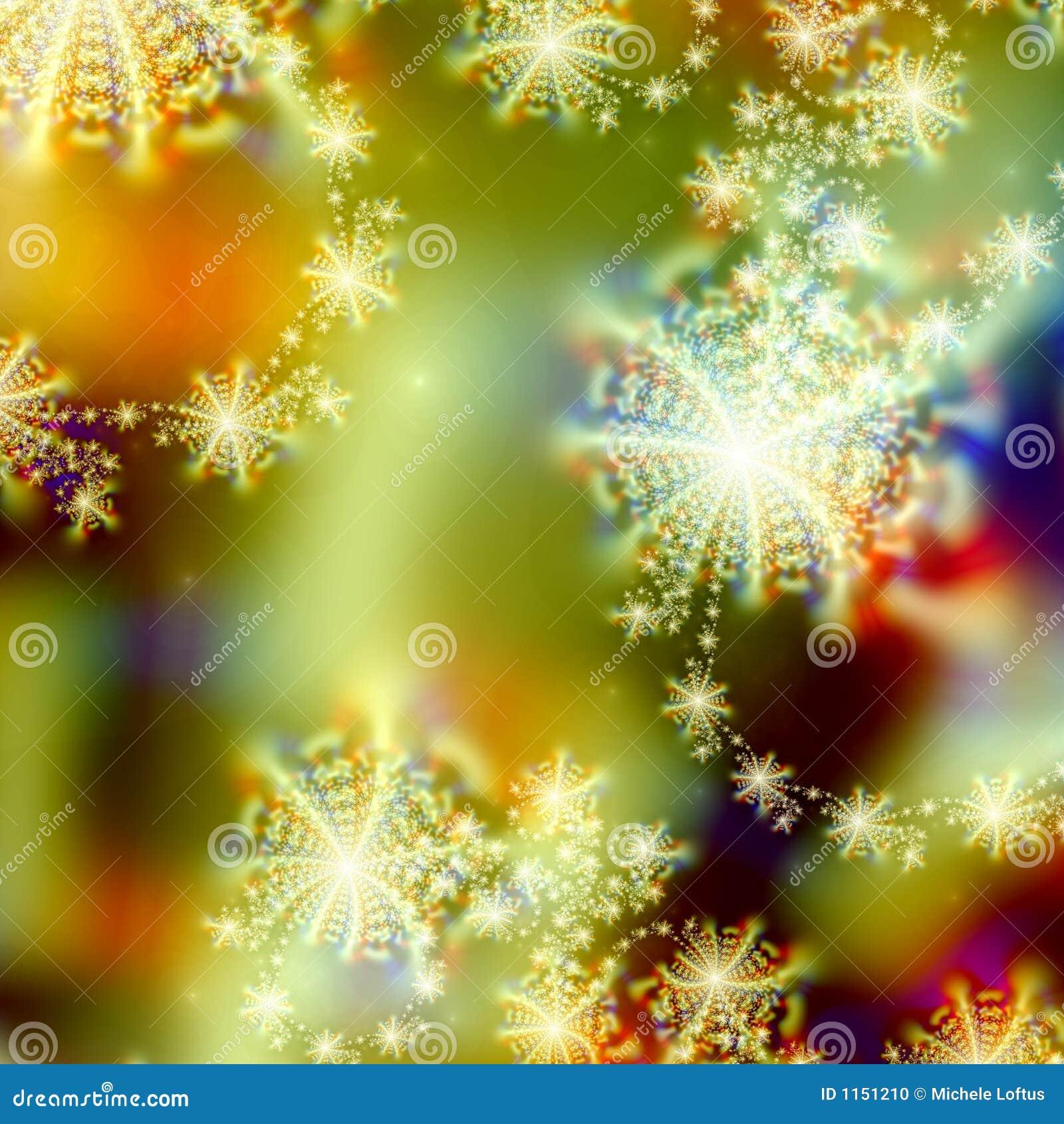 Diseño abstracto del modelo del fondo de luces del día de fiesta y estrellas o copos de nieve abstractos