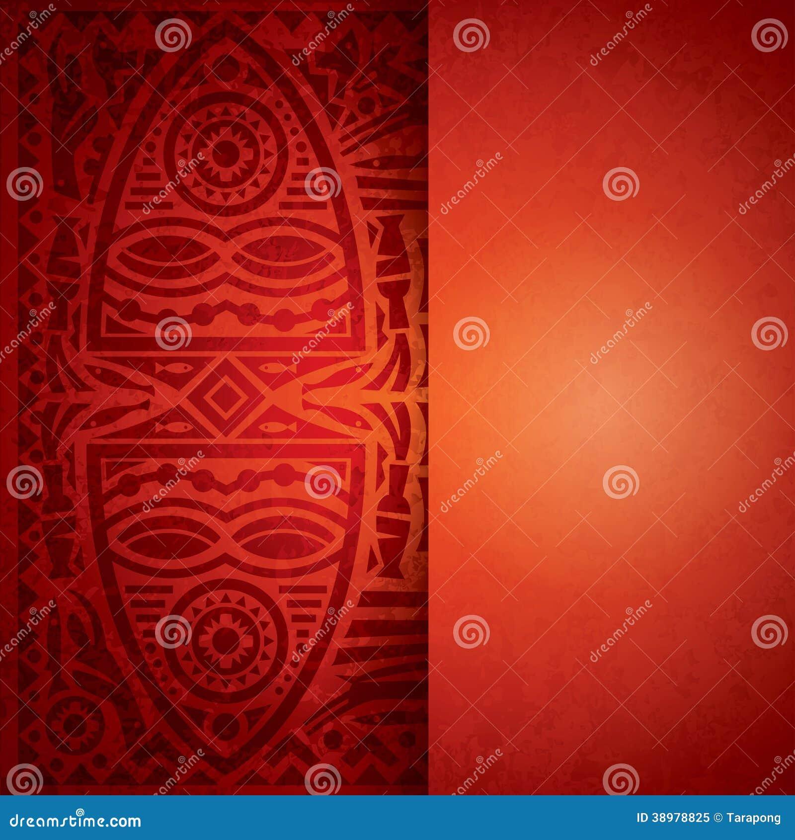 Diseño africano del fondo.