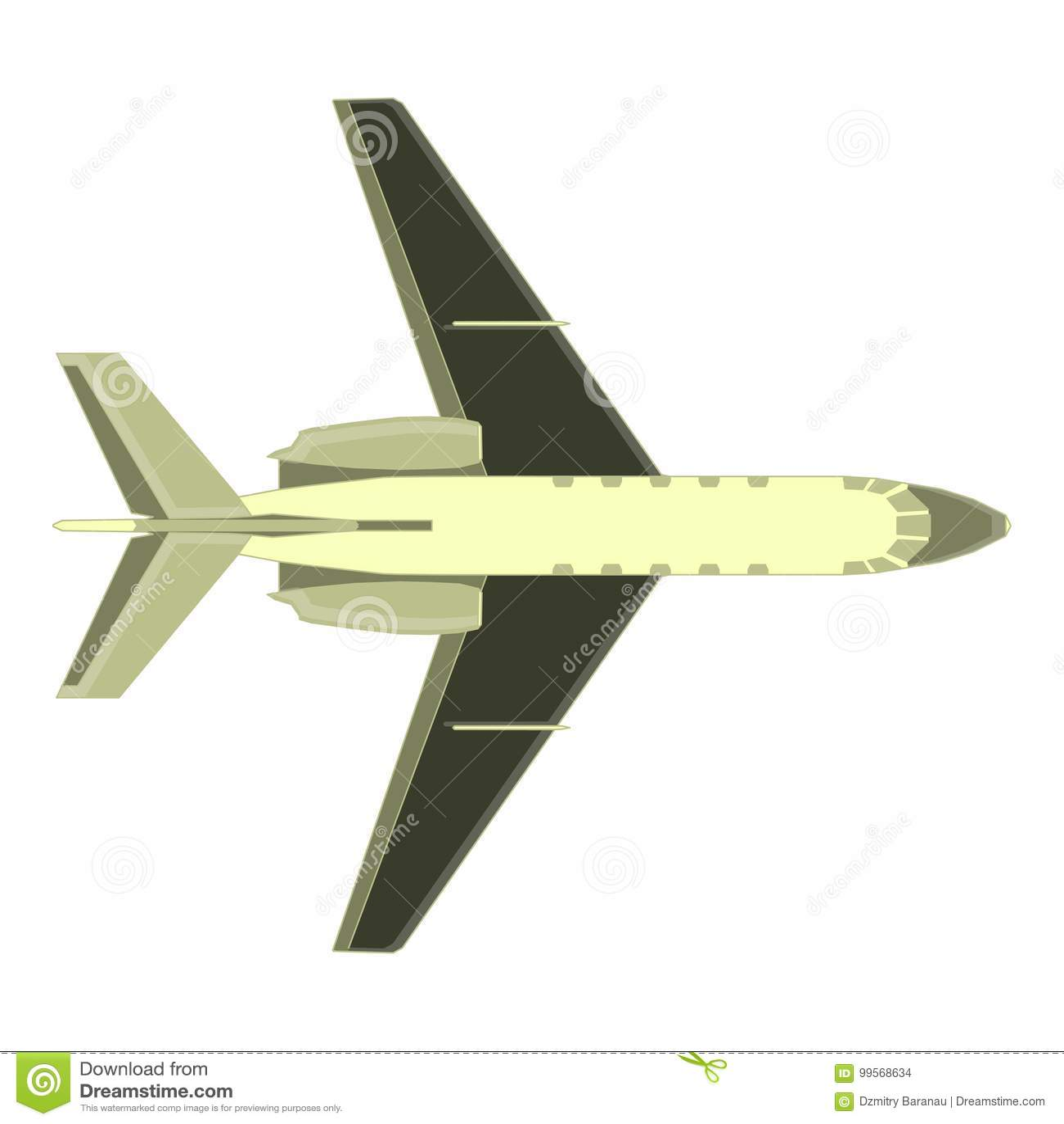 Diseño Aislado Avión De La Mosca Del Avión De Pasajeros Del Aire Del ...
