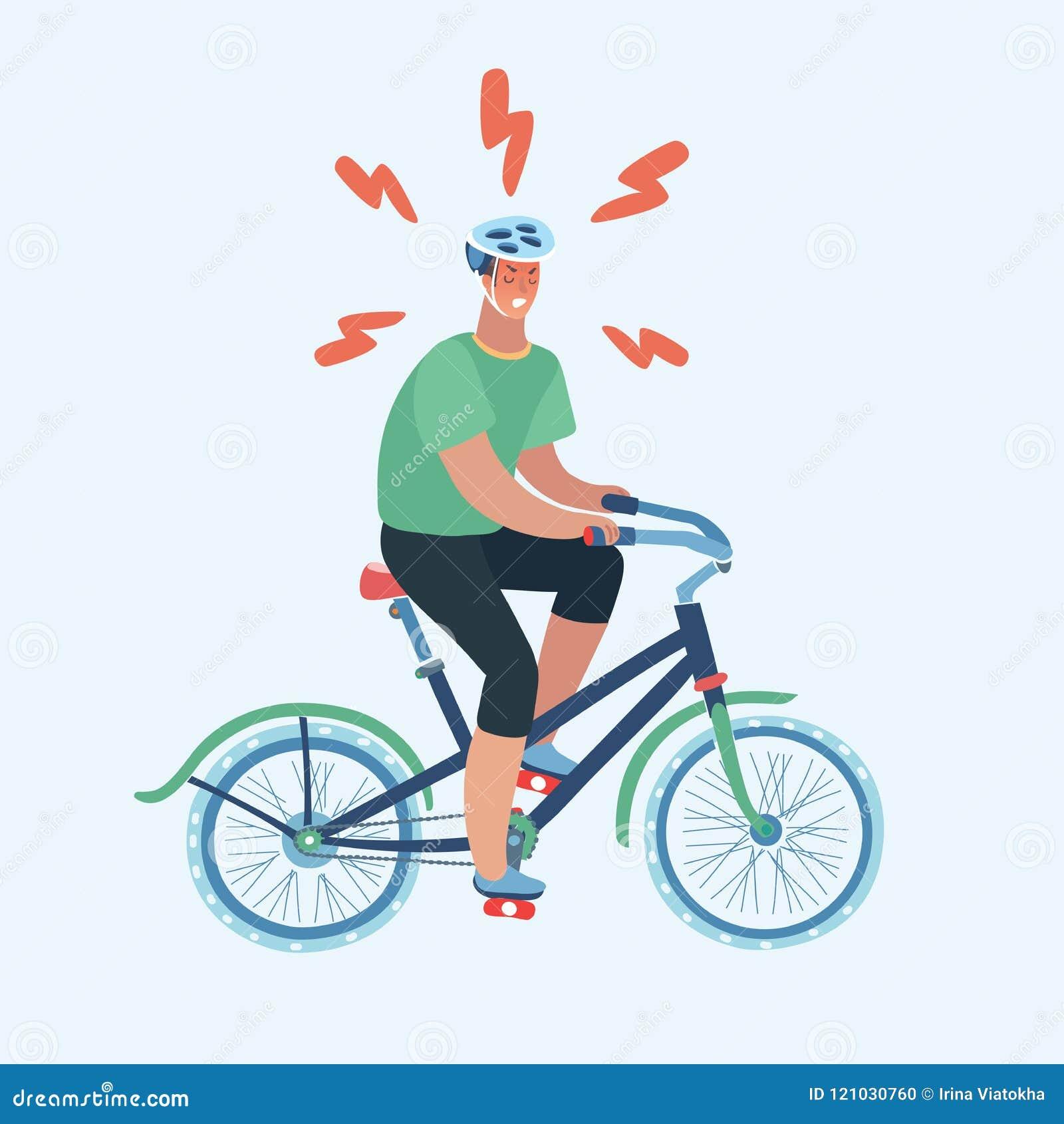 Diseño aislado de la bici del montar a caballo del hombre