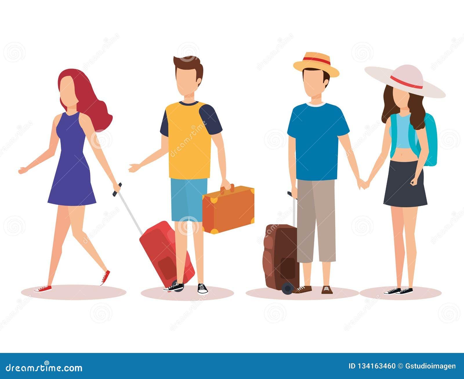Diseño aislado de la gente del viaje