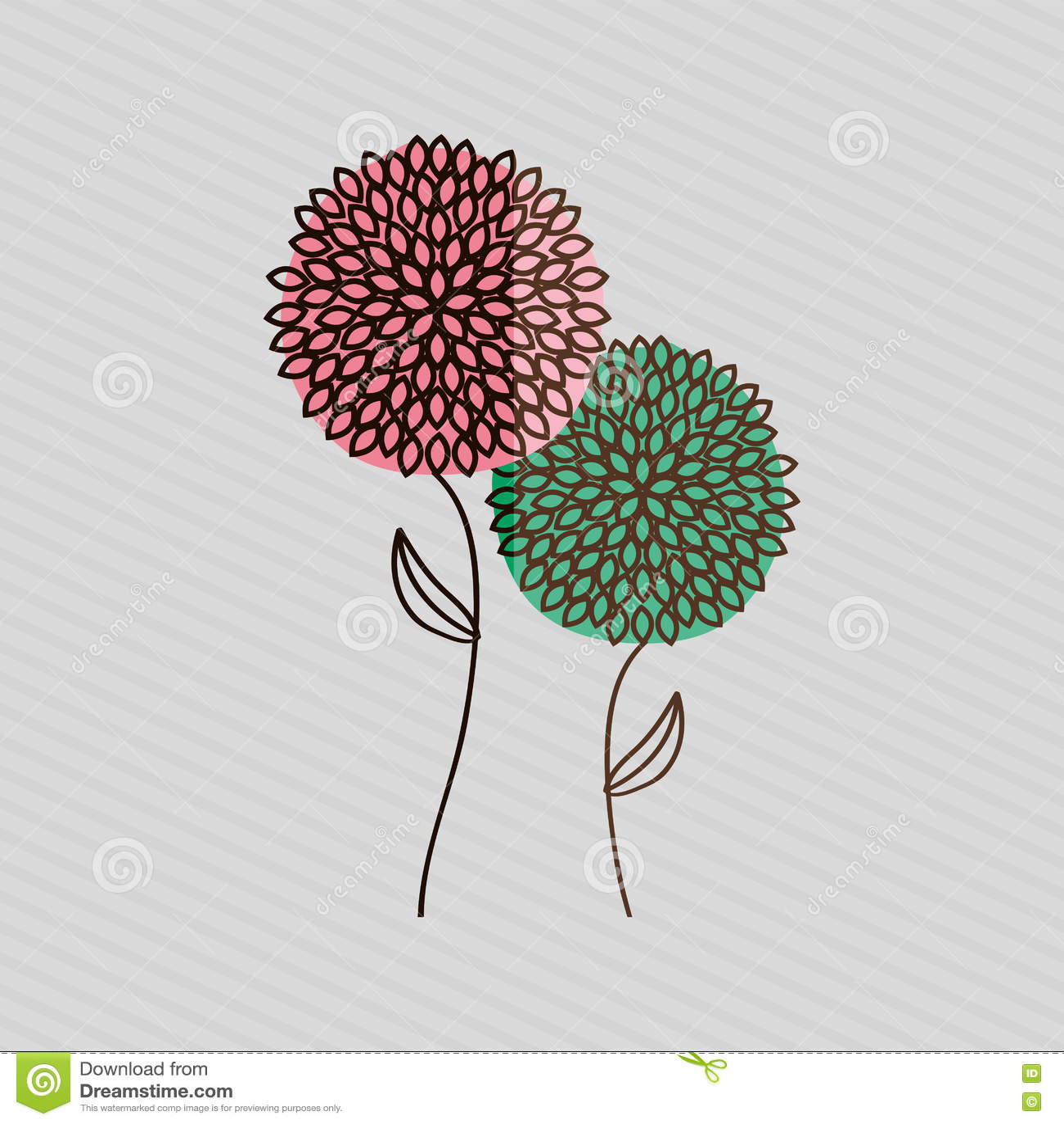 Diseño aislado flor
