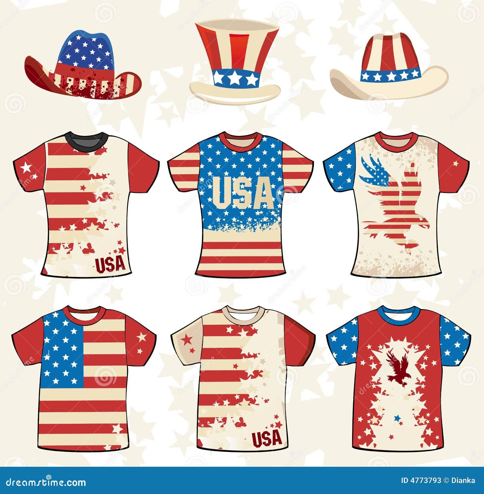 Diseño americano de la camiseta de Grunge