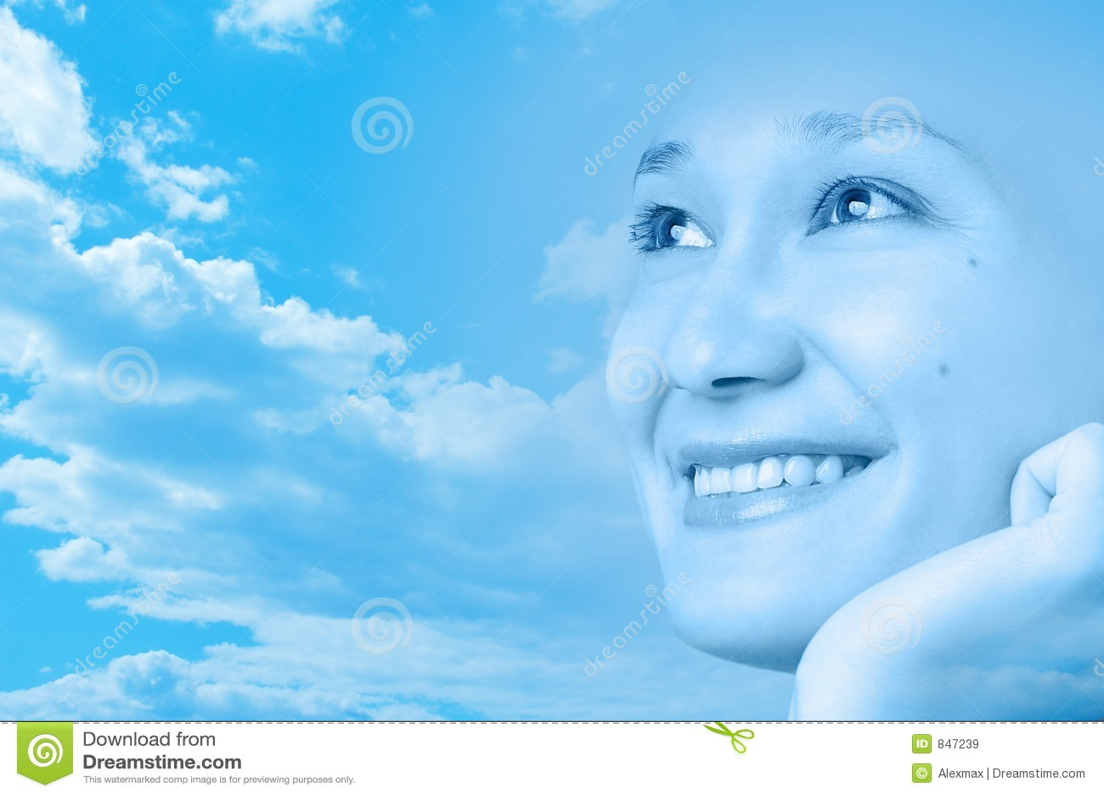 Diseño artístico sonriente feliz de la cara de la muchacha