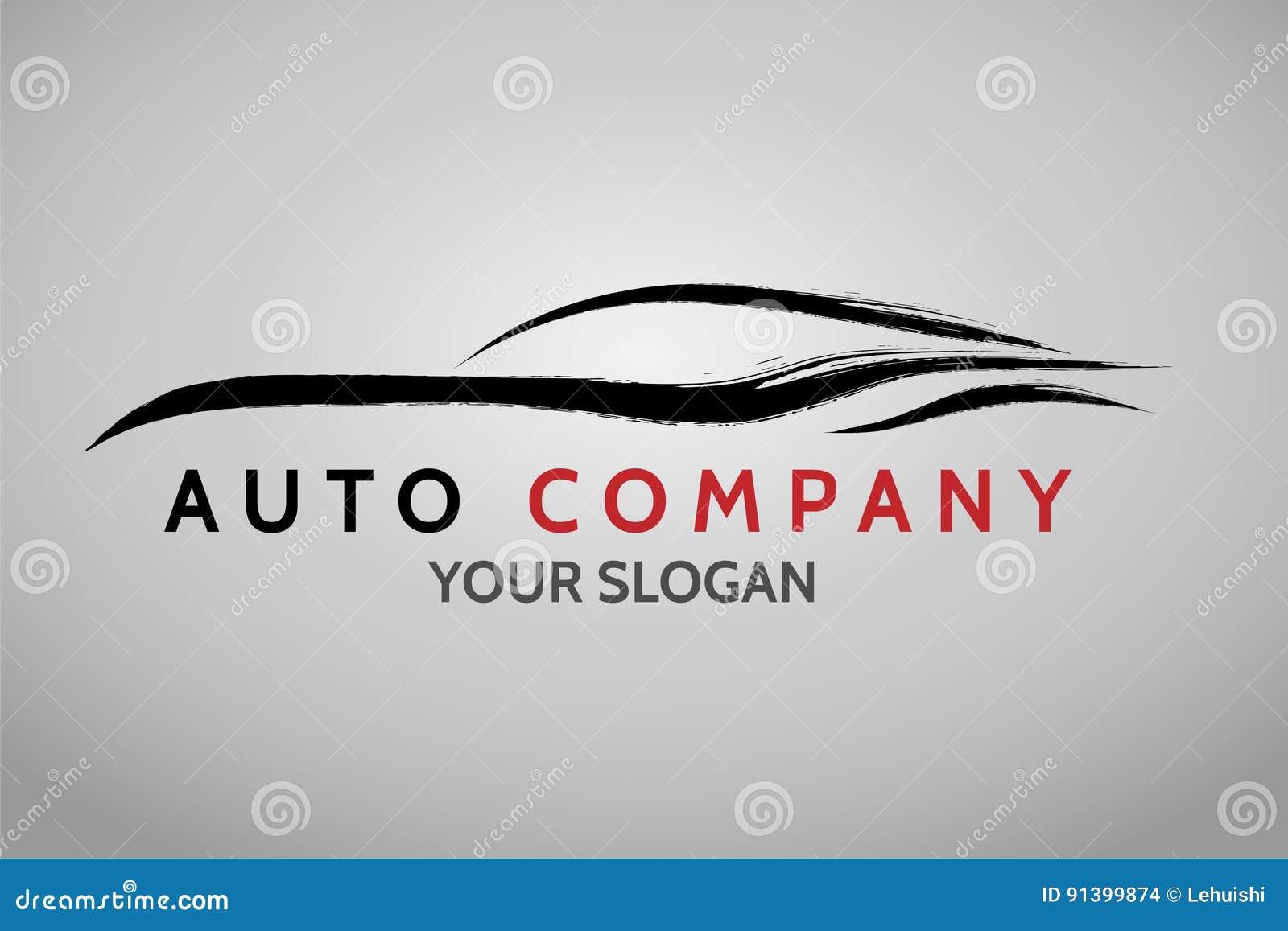 Diseño Auto Del Logotipo Del Concesionario De Coches Ilustración ...