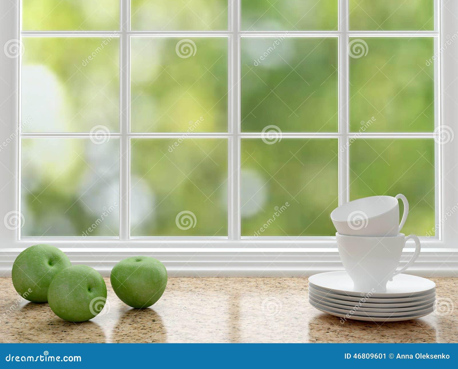 Diseño blanco de la cocina