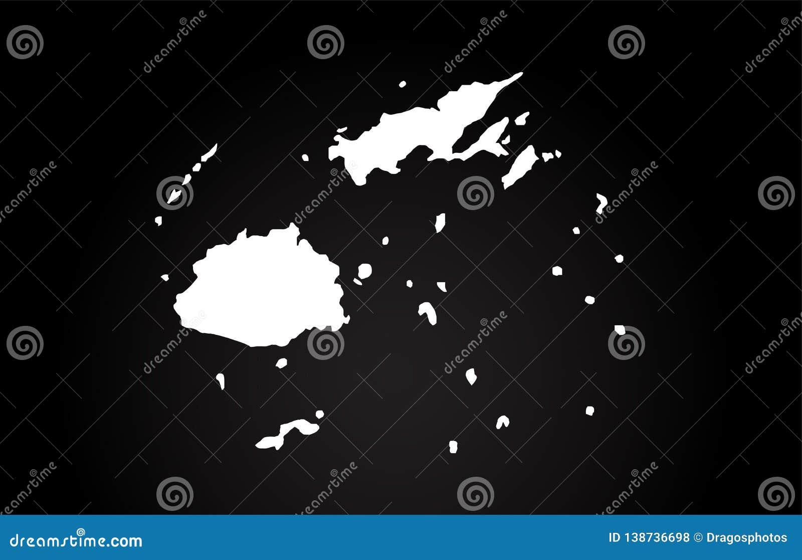 Diseno Blanco Y Negro Del Logotipo Del Mapa De La Frontera