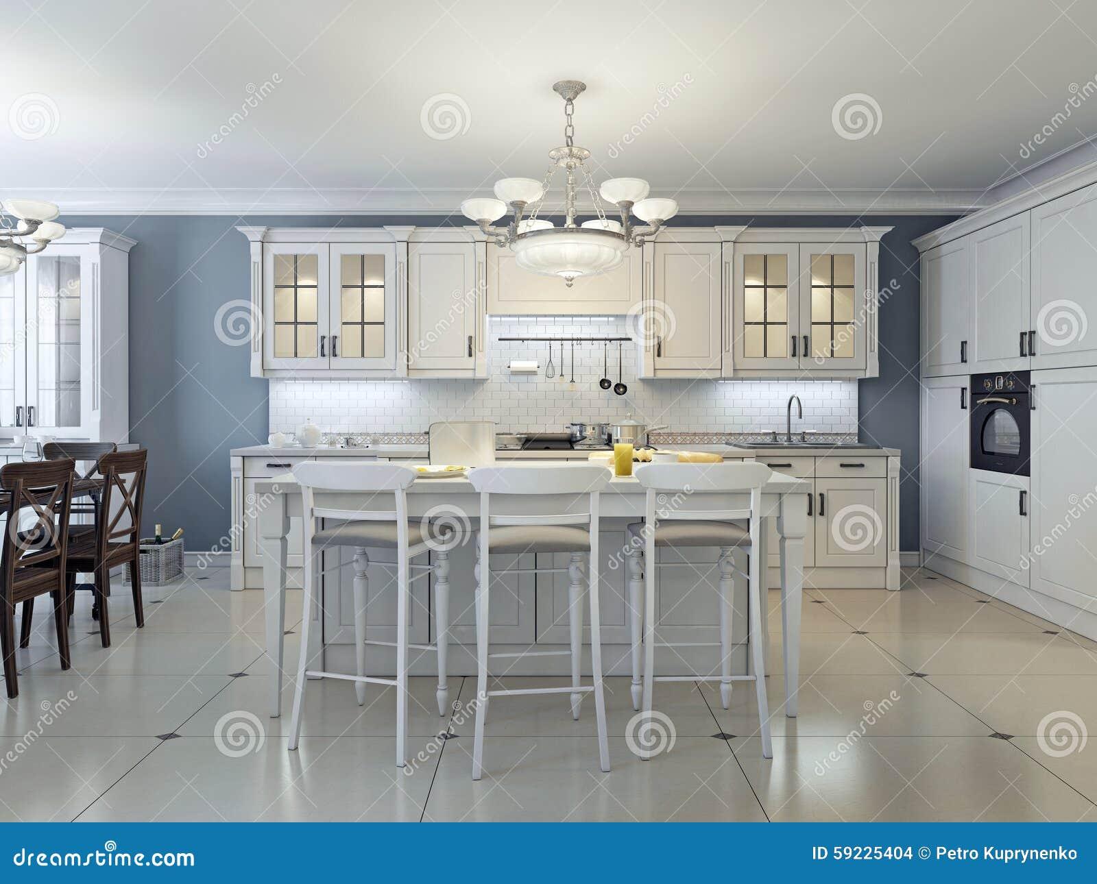 Download Diseño Brillante De La Cocina Del Art Déco Stock de ilustración - Ilustración de neatness, azul: 59225404
