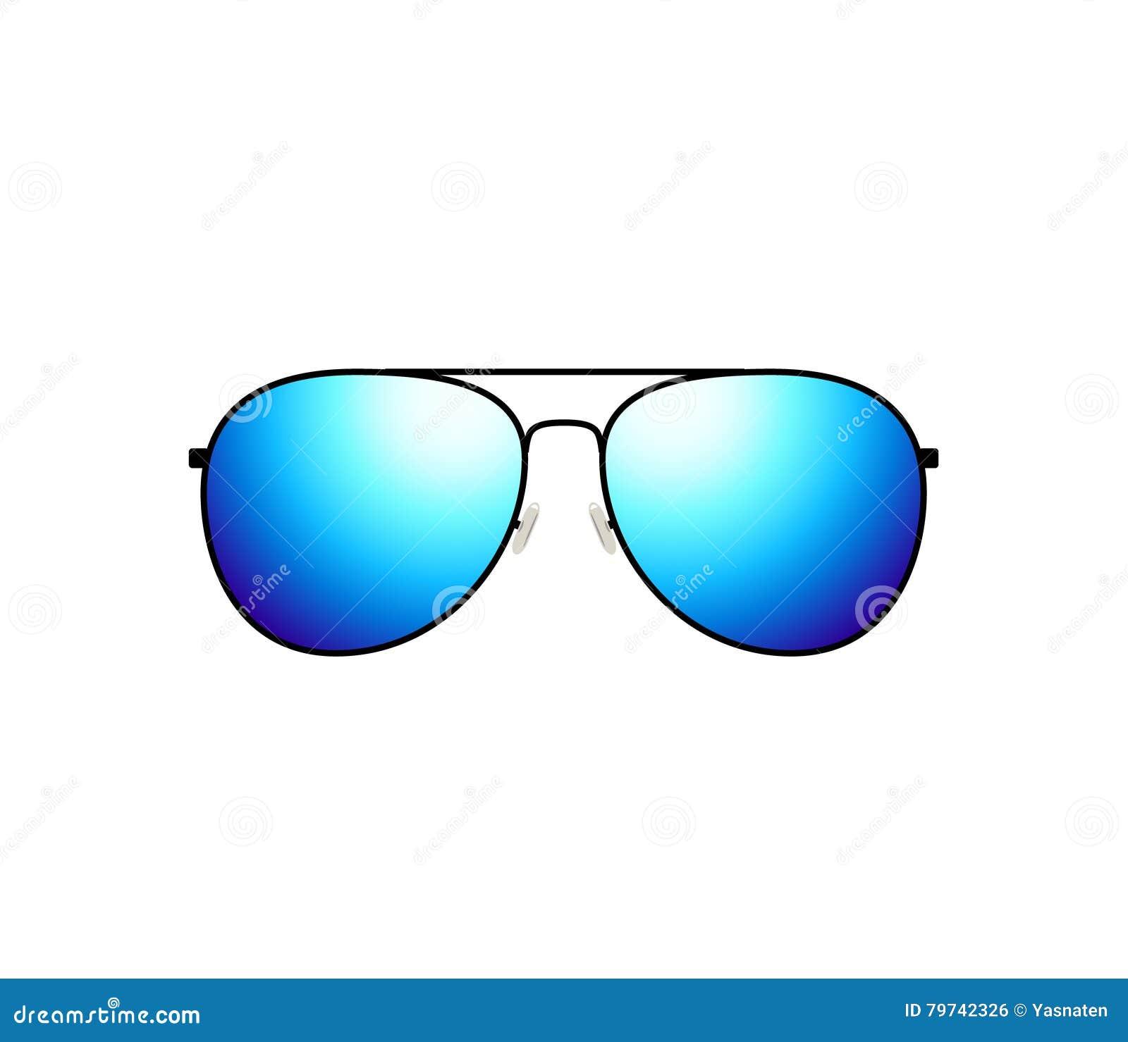 Diseño brillante de las gafas de sol tipo aviador del vector