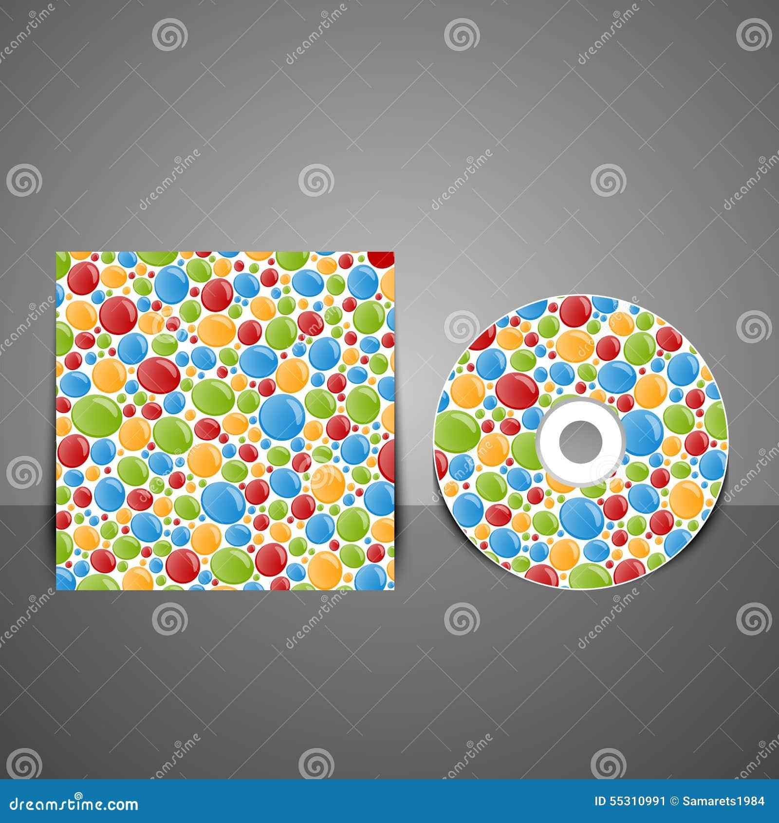 Diseño CD de la cubierta con las burbujas coloridas