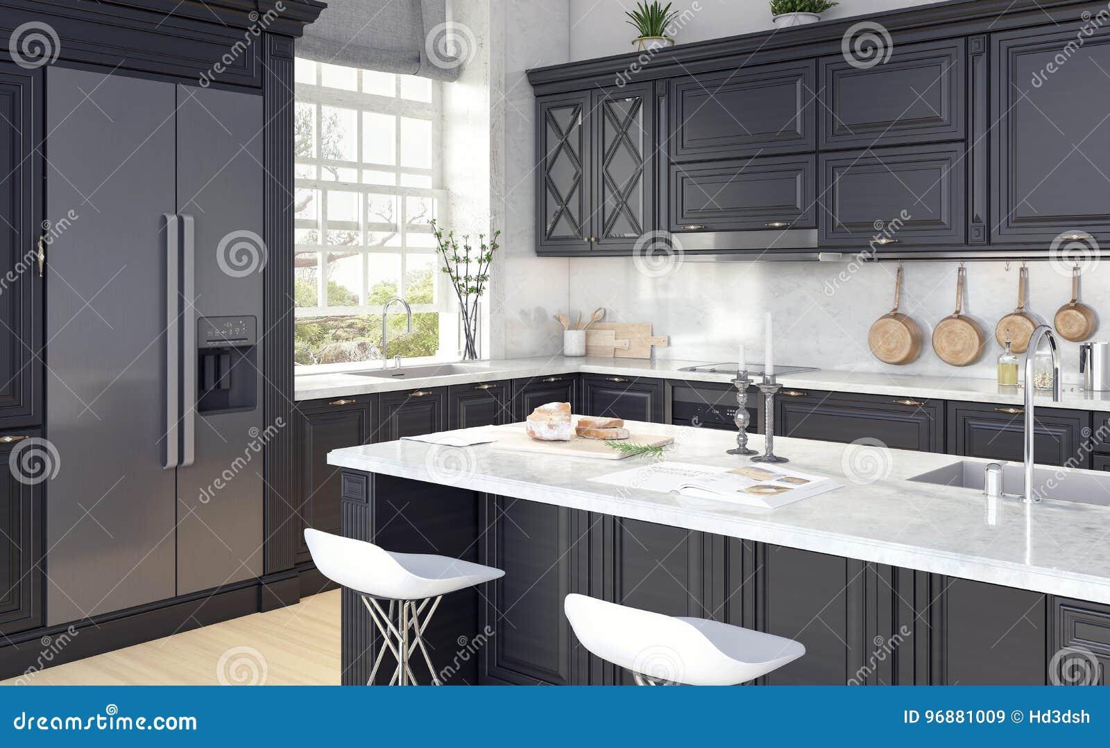 Diseño clásico de cocina