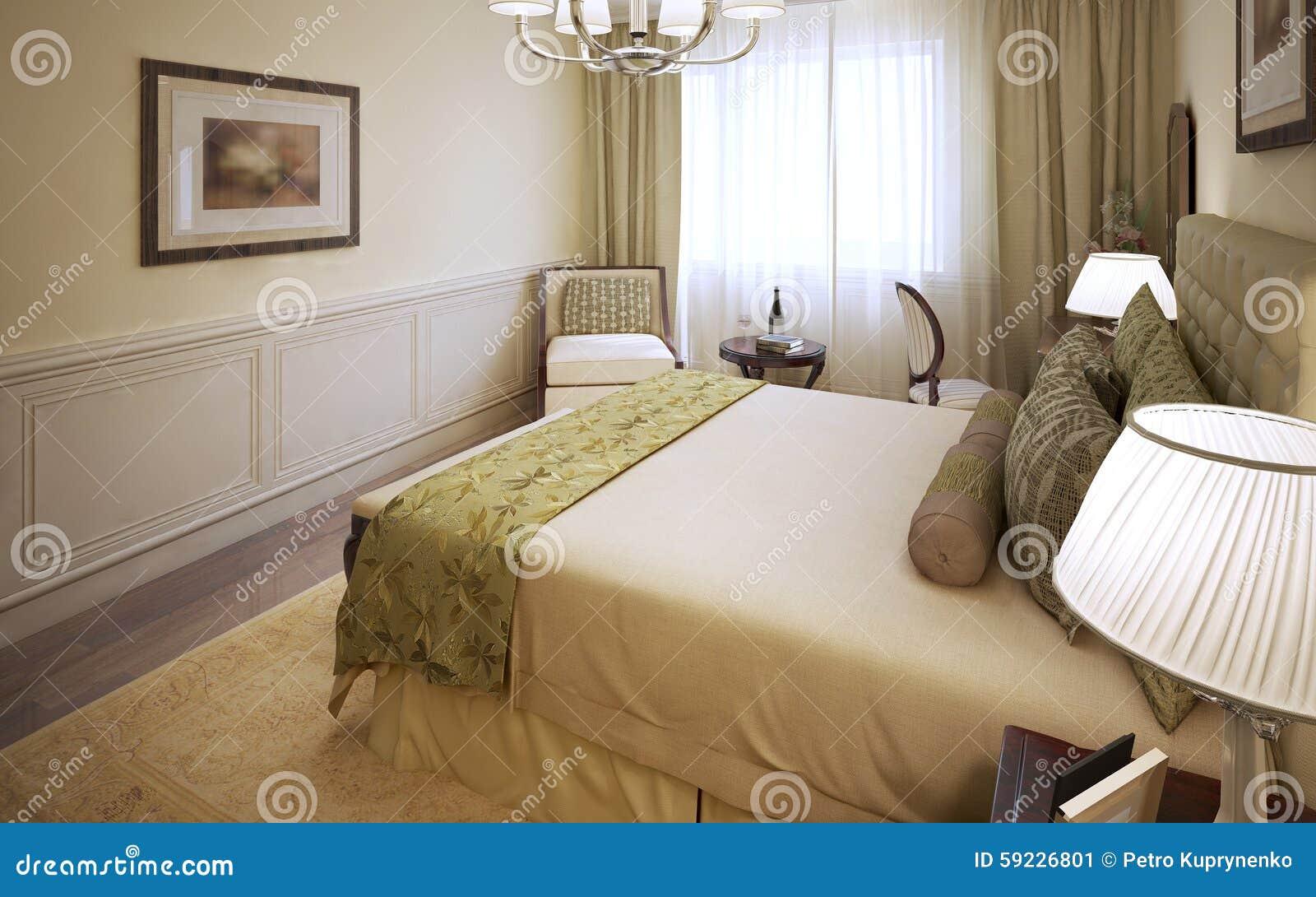 Download Diseño Clásico Del Dormitorio Brillante Stock de ilustración - Ilustración de idea, preparación: 59226801
