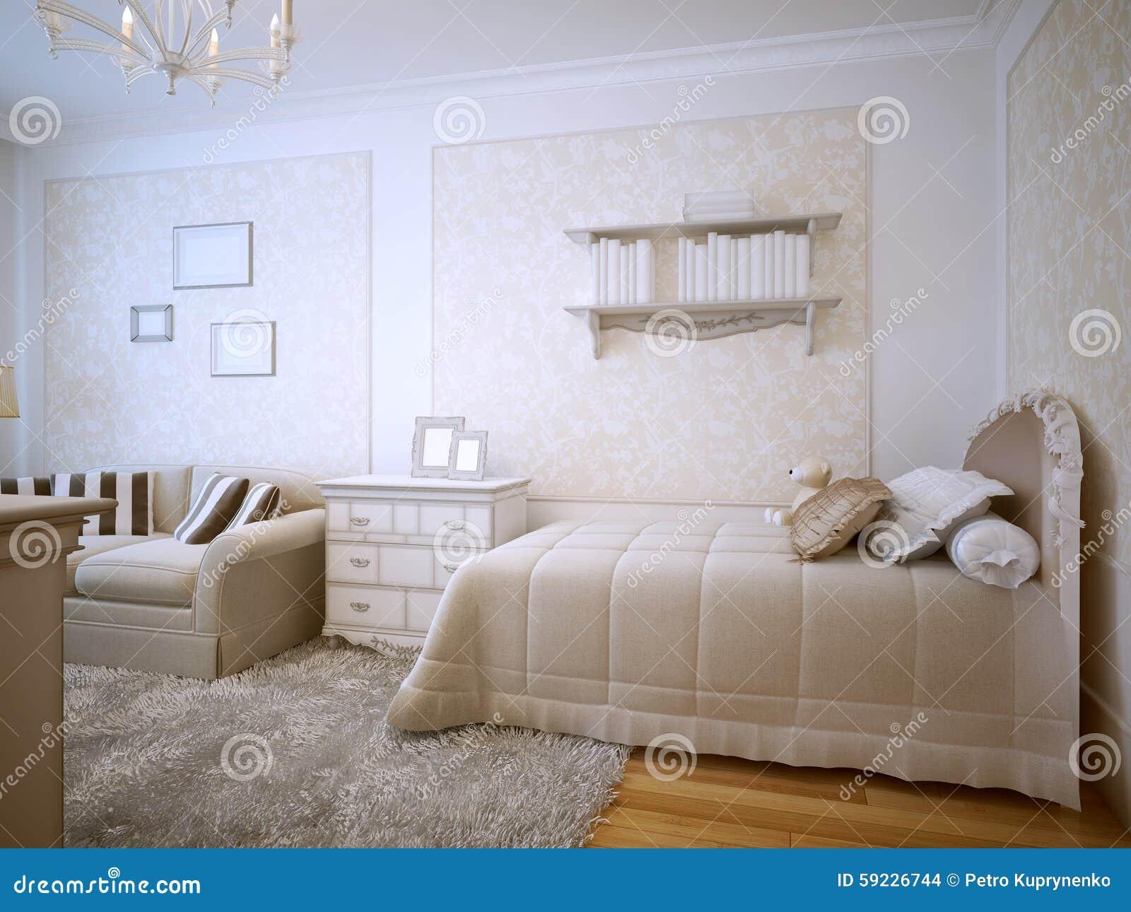 Diseño clásico del dormitorio de lujo