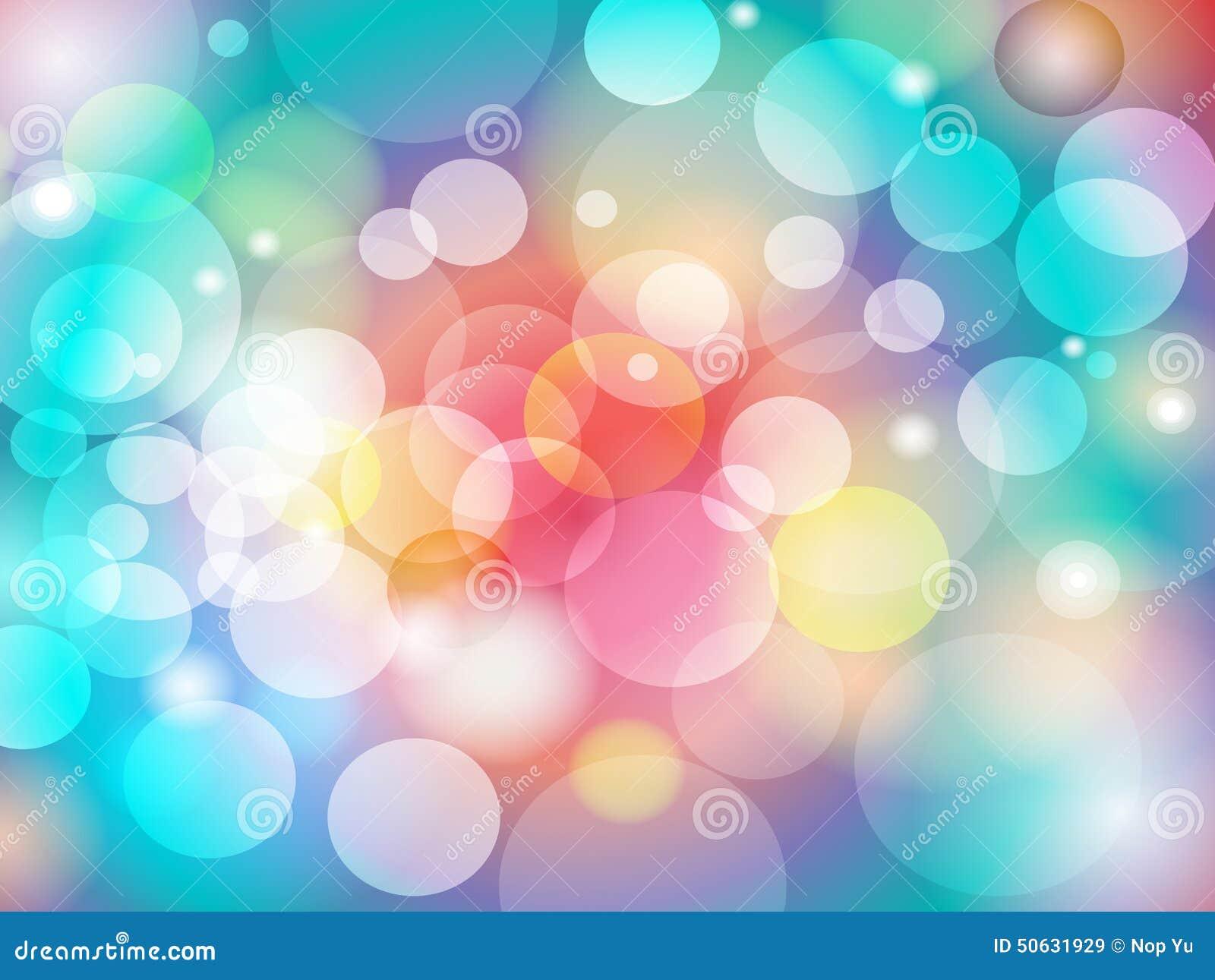 Diseño colorido abstracto del fondo de Bokeh de la falta de definición