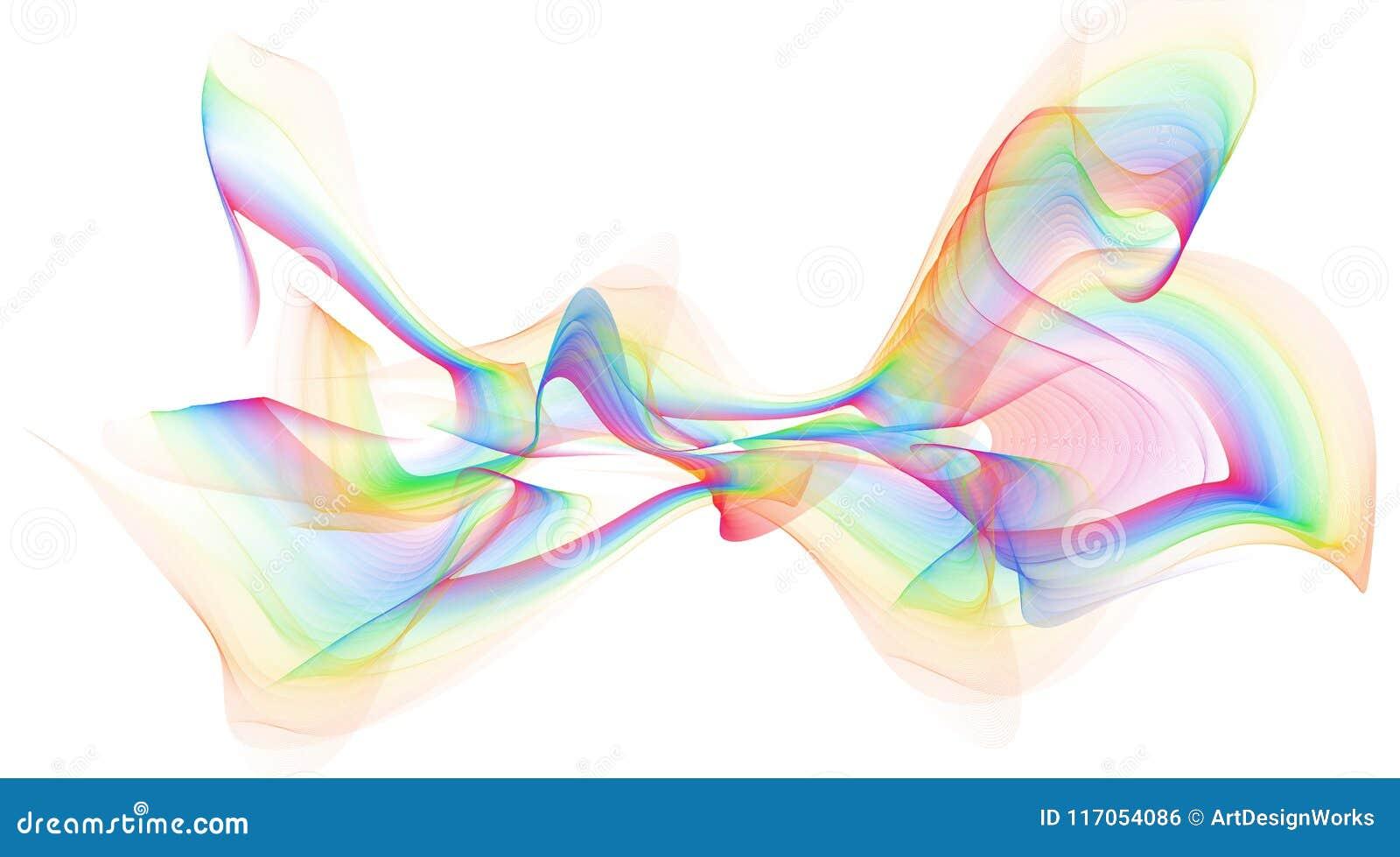 Diseño colorido abstracto del fondo de las ondas de la llama - aislado
