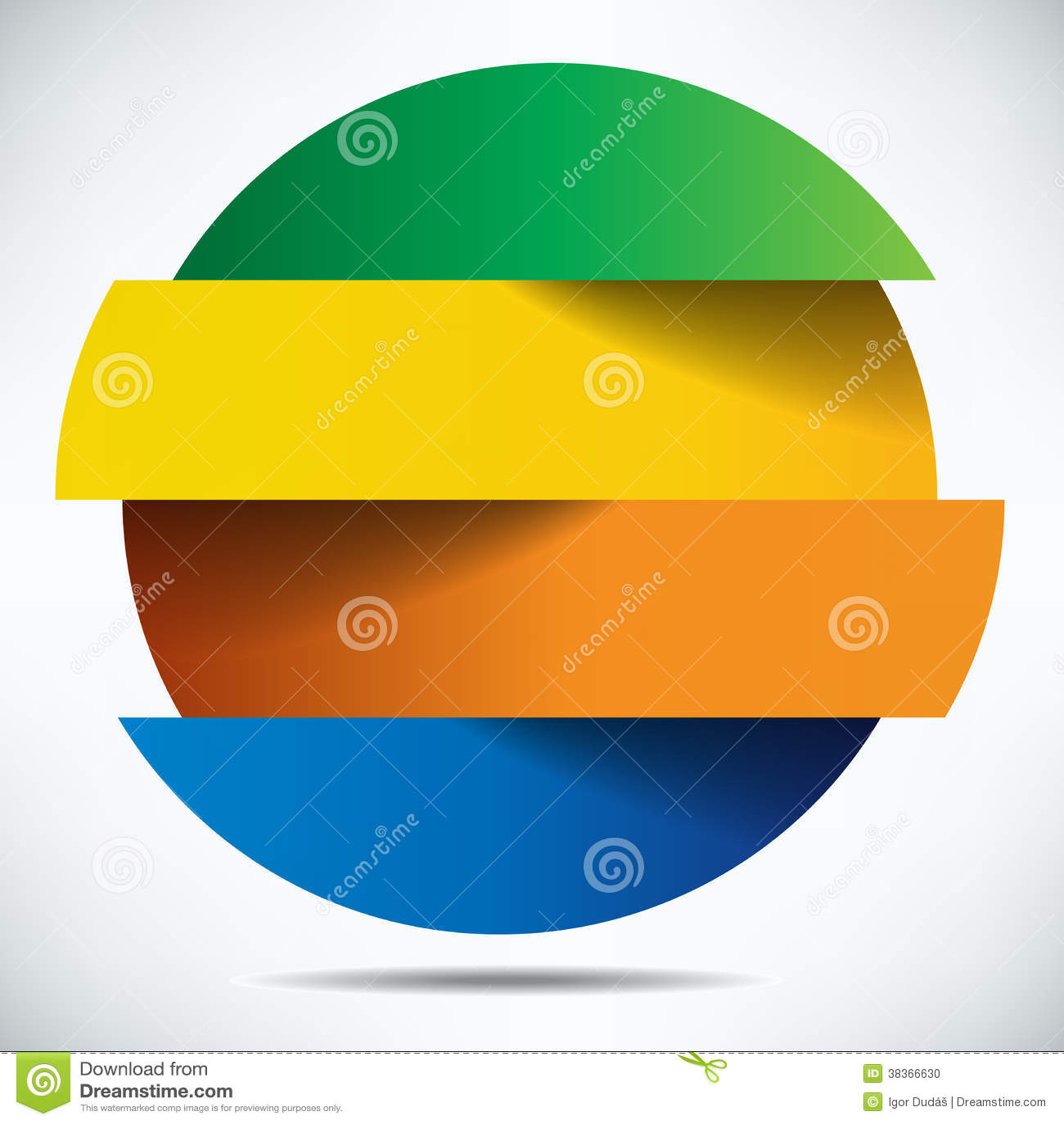 Diseño colorido de la bandera del infographics