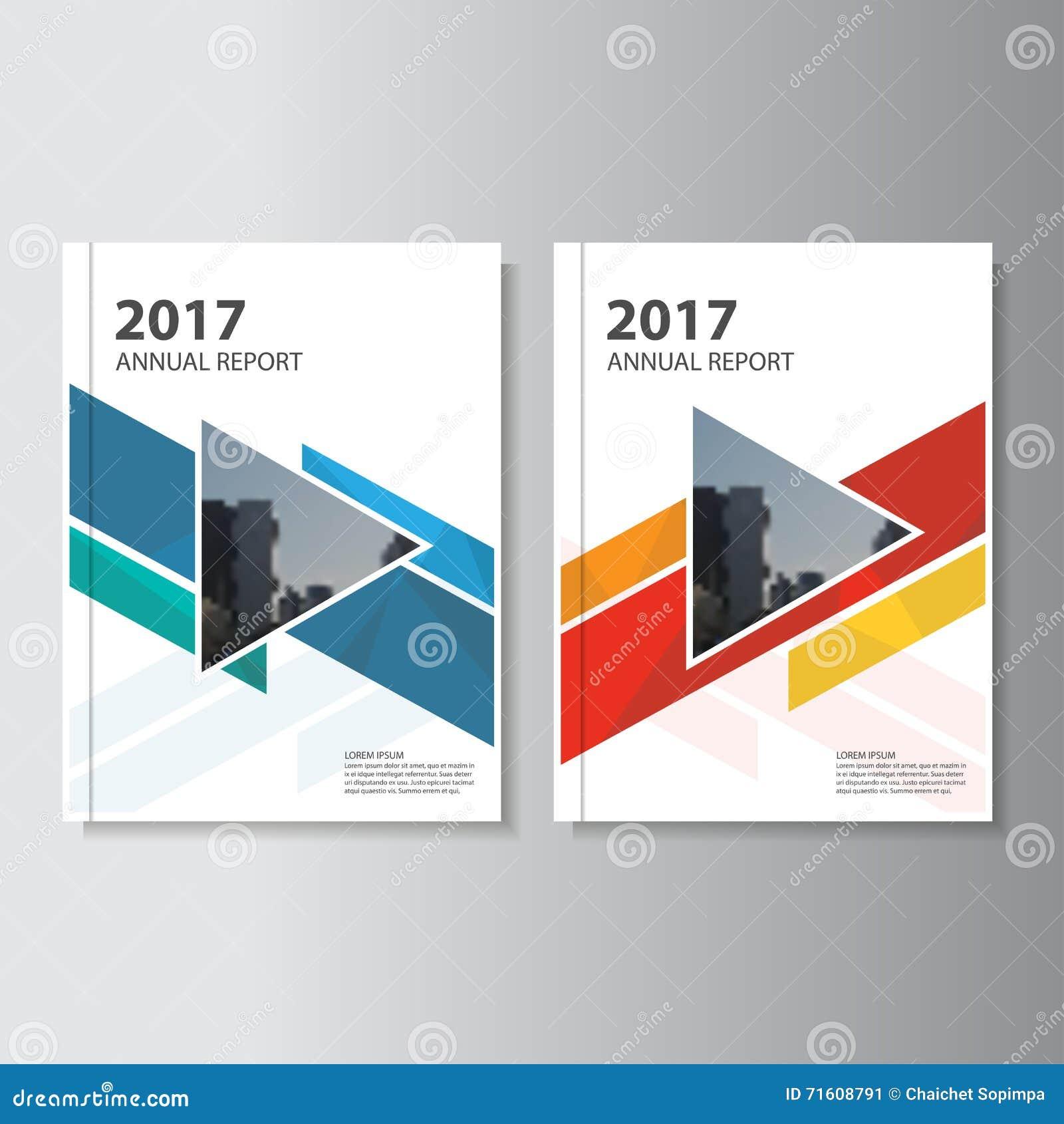 Diseño colorido de la plantilla del aviador del folleto del prospecto del informe anual del vector, diseño de la disposición de l