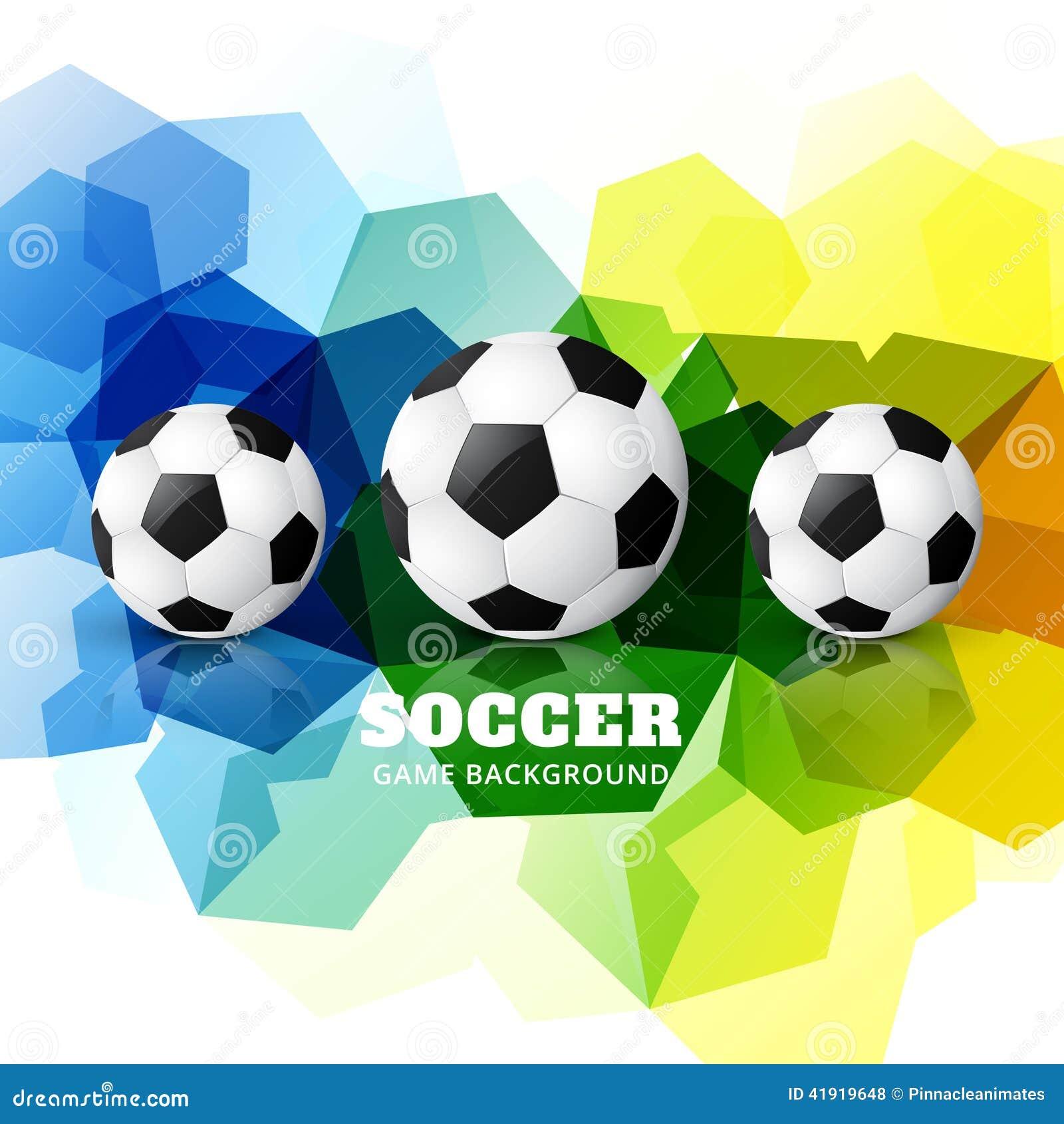 Diseño colorido del fútbol