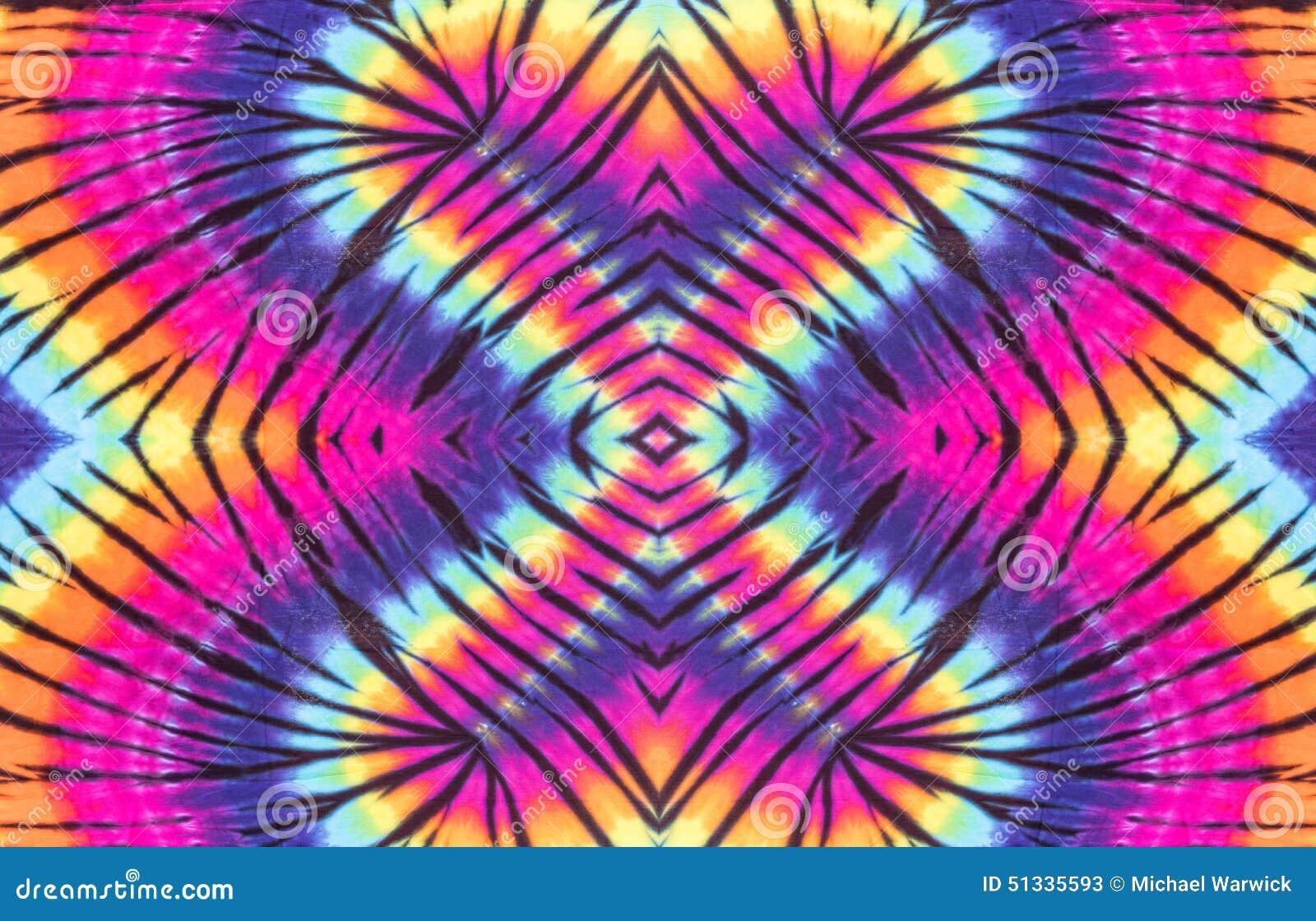 Diseño colorido del modelo del espiral del teñido anudado
