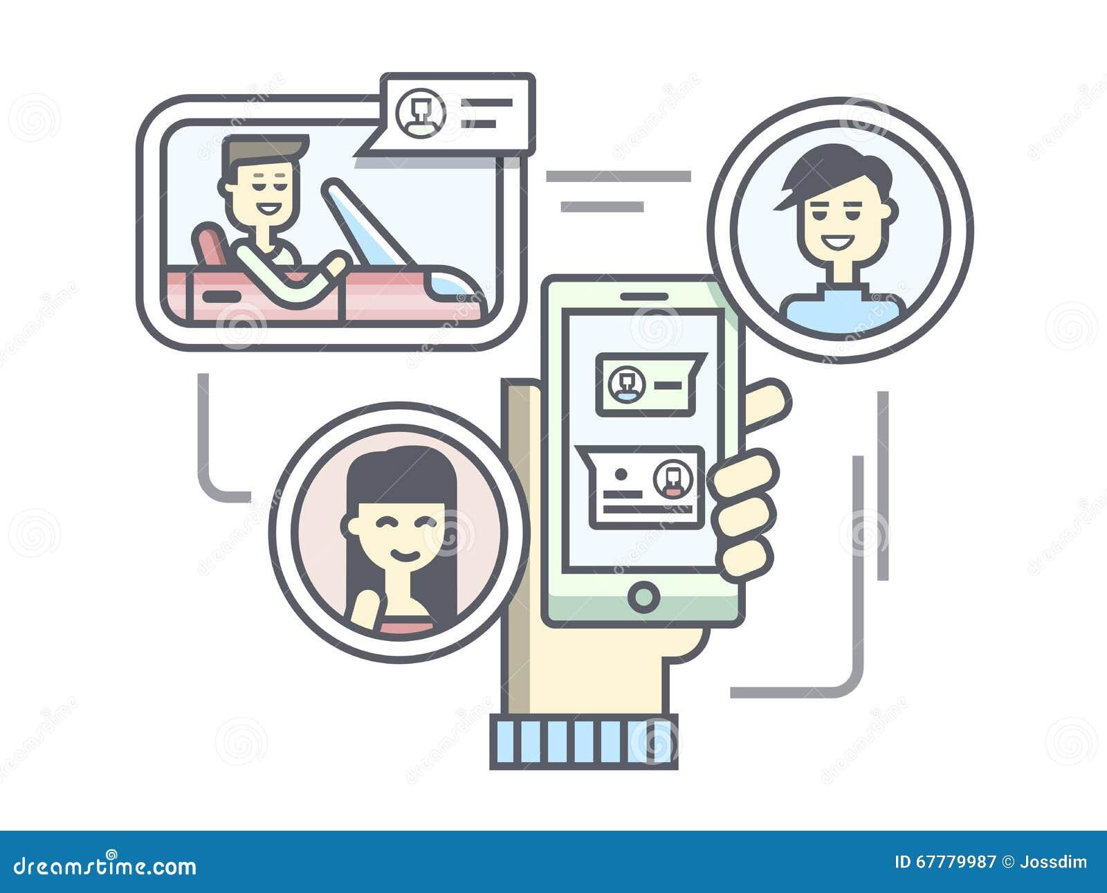 Diseño completamente linear móvil de la comunicación