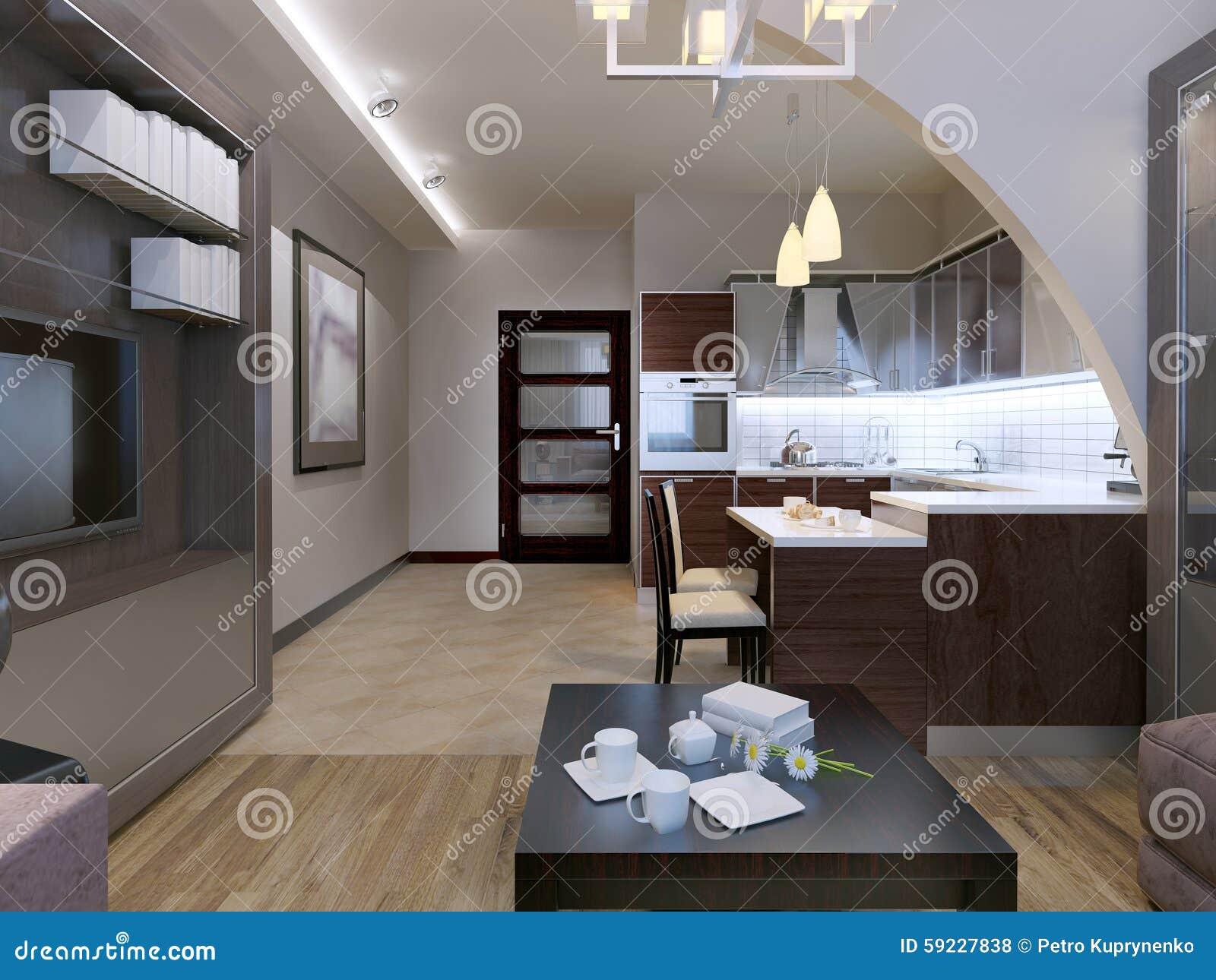 Download Diseño Contemporáneo Del Estudio Stock de ilustración - Ilustración de marrón, gris: 59227838
