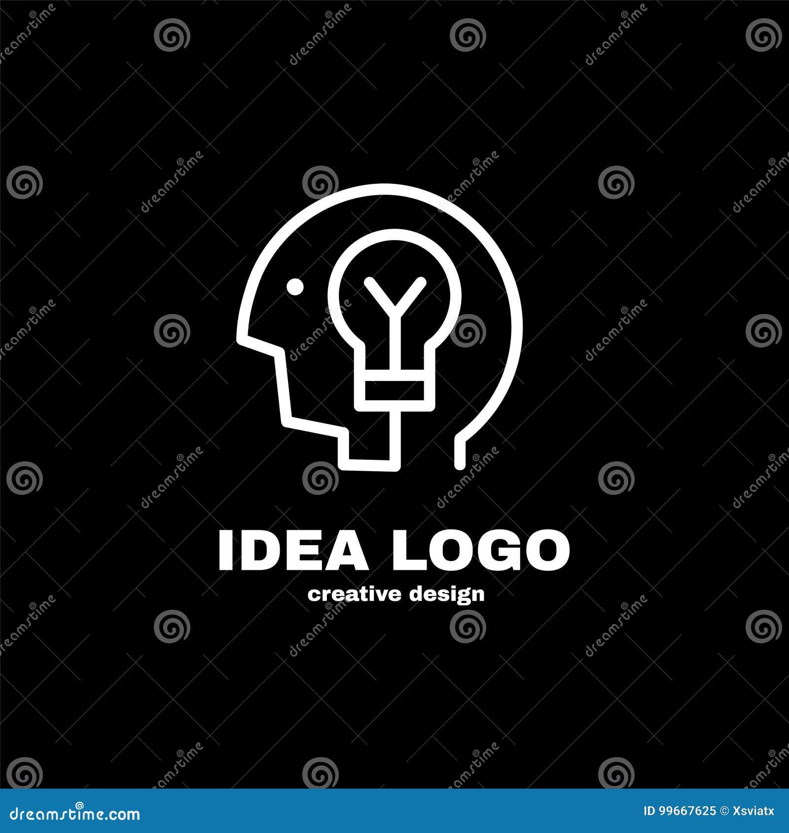 Diseño creativo de la plantilla del logotipo de la idea Vector