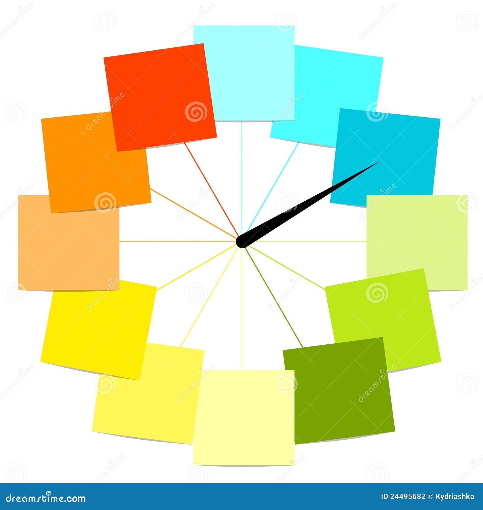 Dise o creativo del reloj con las etiquetas engomadas for Diseno de etiquetas