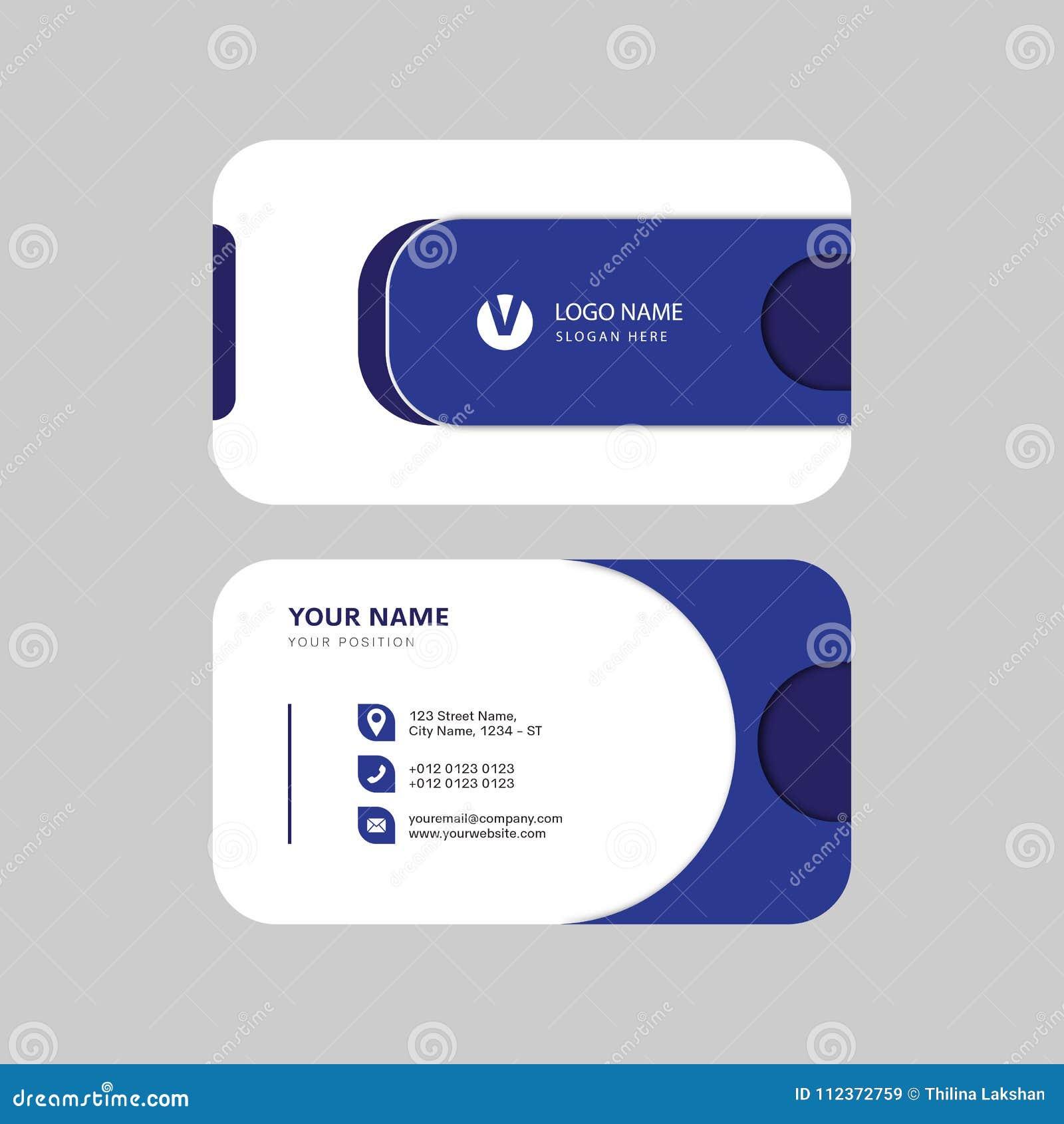 Diseño creativo profesional moderno simple de la tarjeta de visita