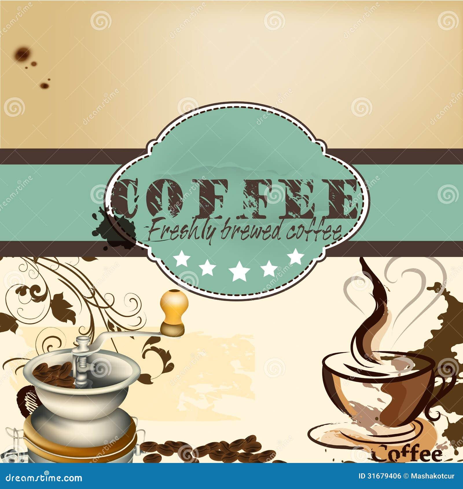 Dise o de cartel de la cafeter a o del caf imagen de for Disenos para cafeterias