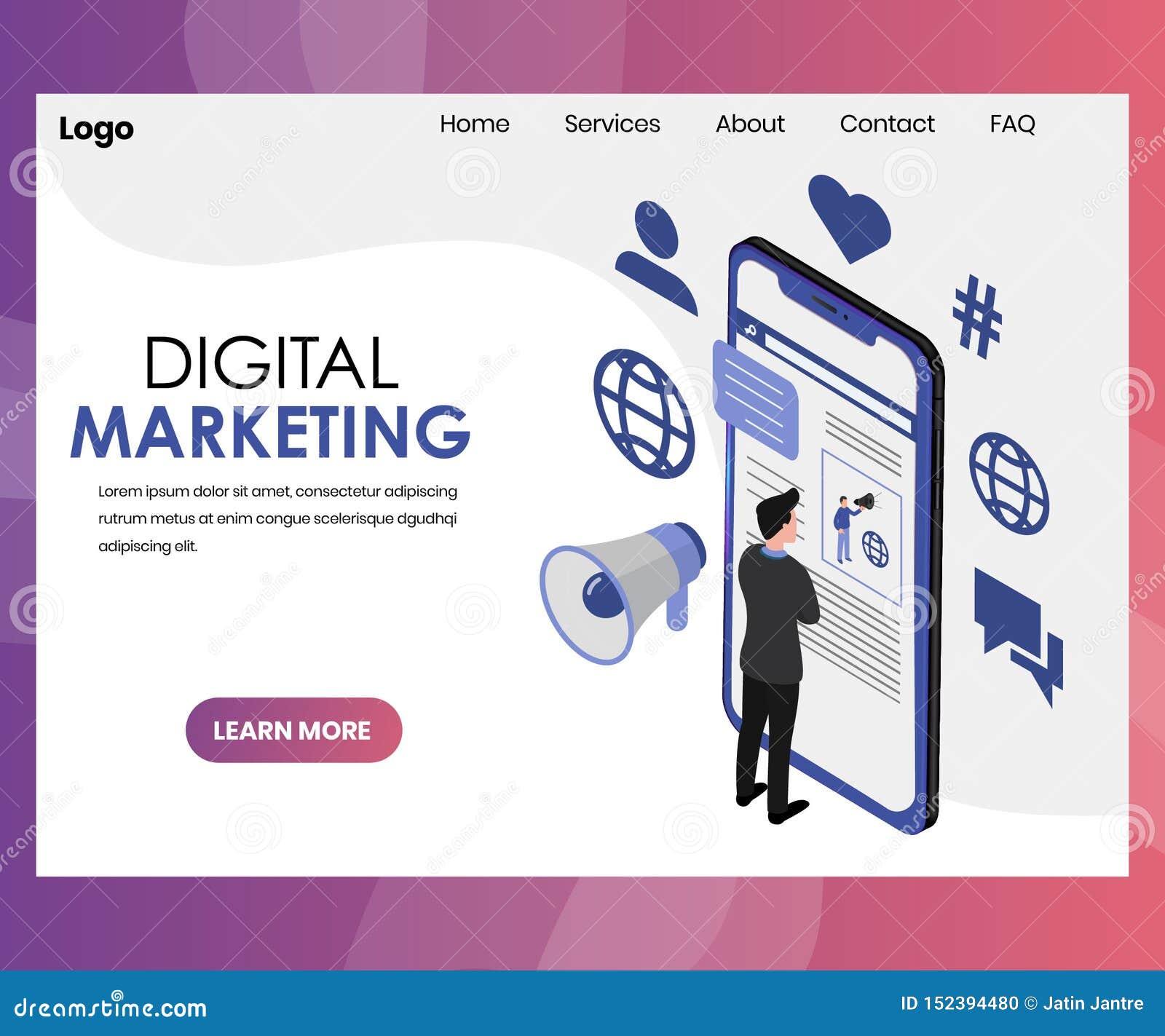 Diseño de comercialización de la página del aterrizaje de Digitaces