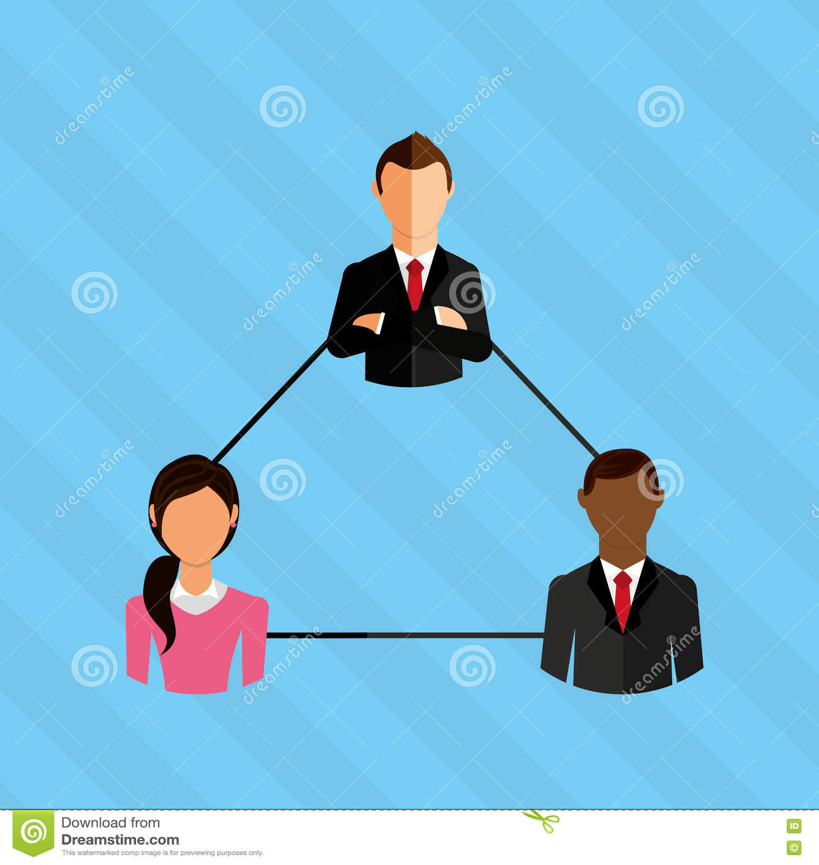 Diseño de concepto del trabajo en equipo