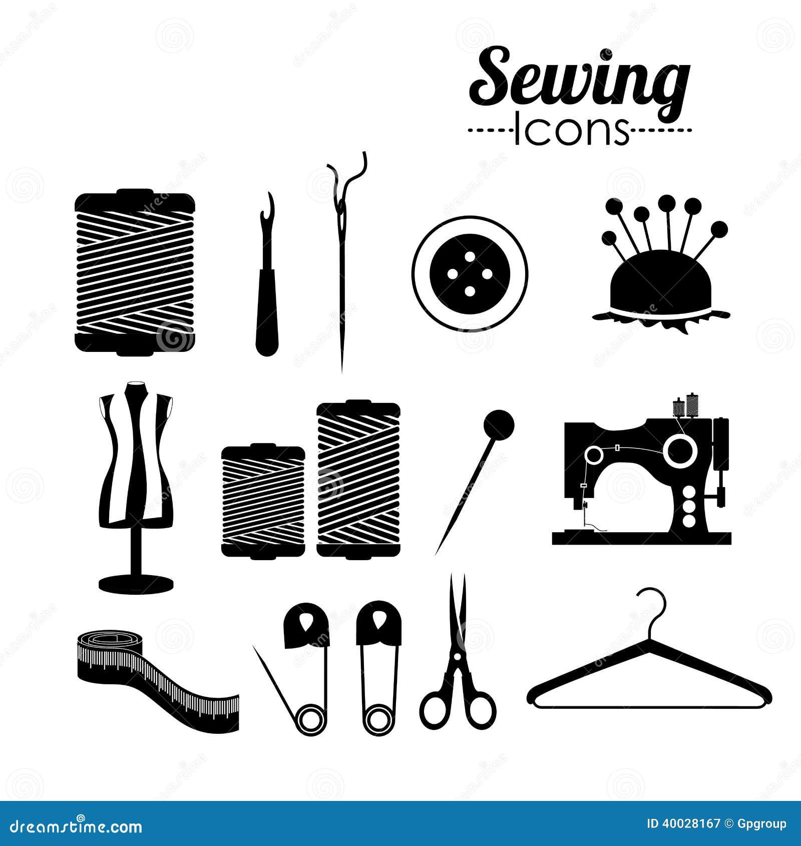 Diseño de costura ilustración del vector. Ilustración de trabajo ...