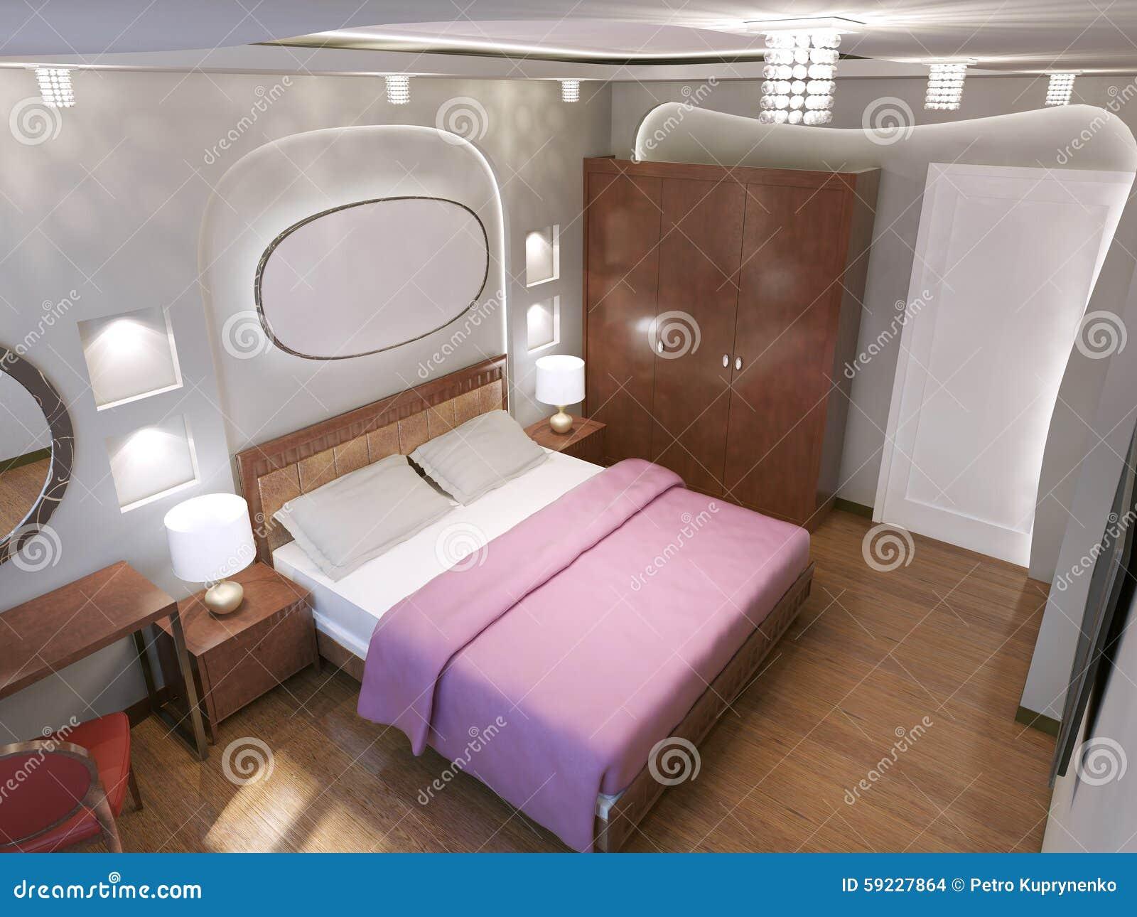 Download Diseño De Dormitorio Del Art Nouveau Stock de ilustración - Ilustración de bedchamber, hermoso: 59227864