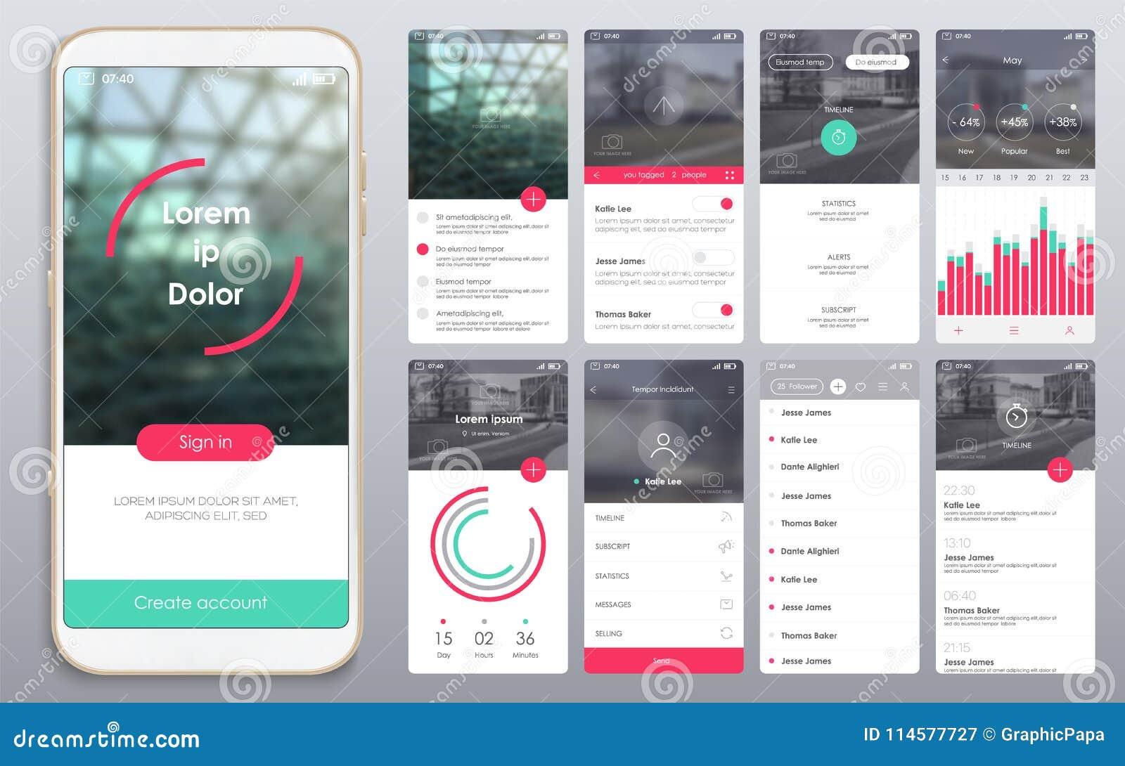 Diseño de la aplicación móvil, UI, UX, GUI