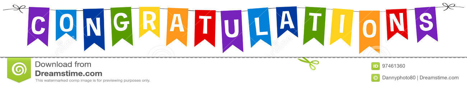 Diseño de la bandera para la enhorabuena