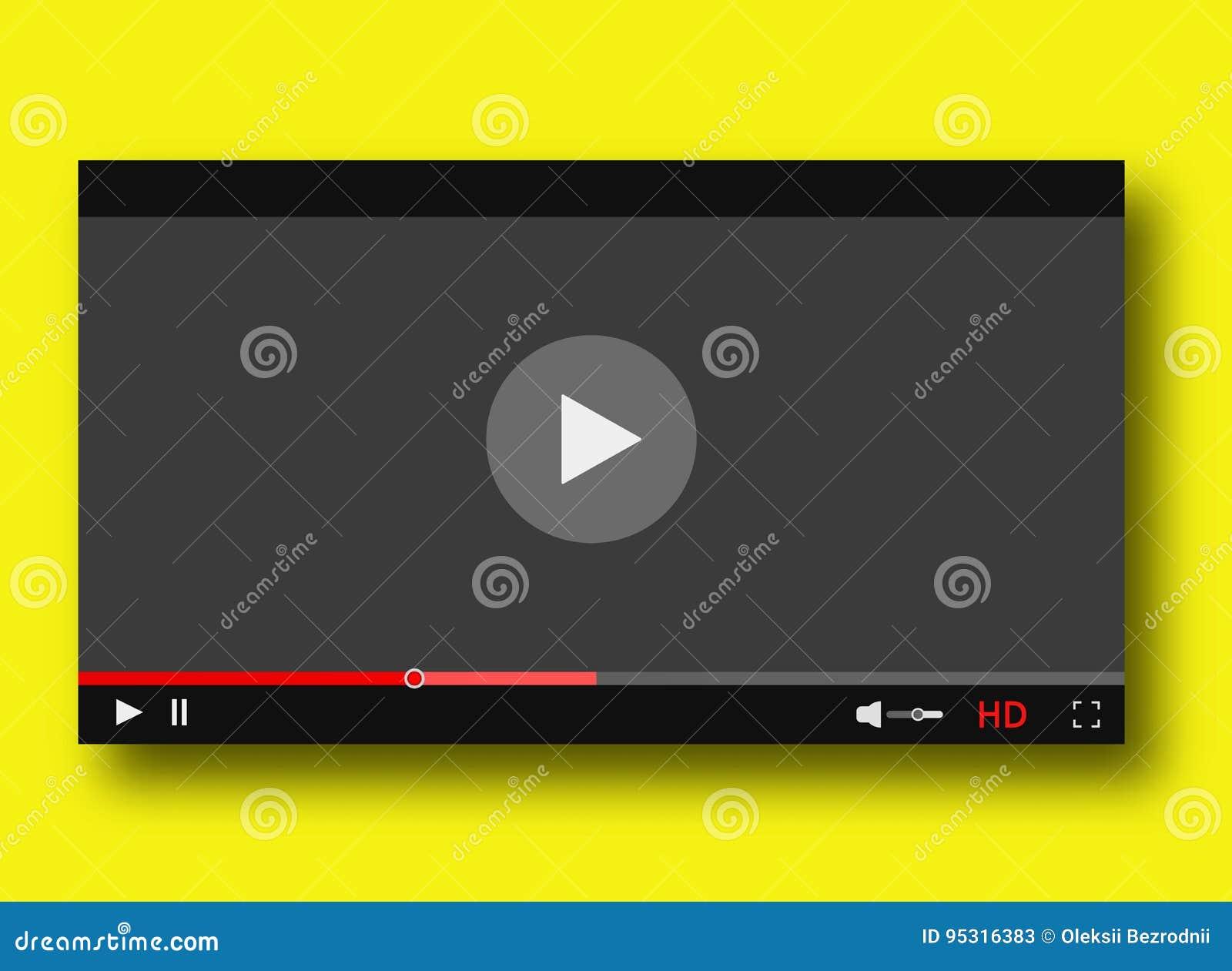 Diseño de la barra del juego del interfaz del vídeo